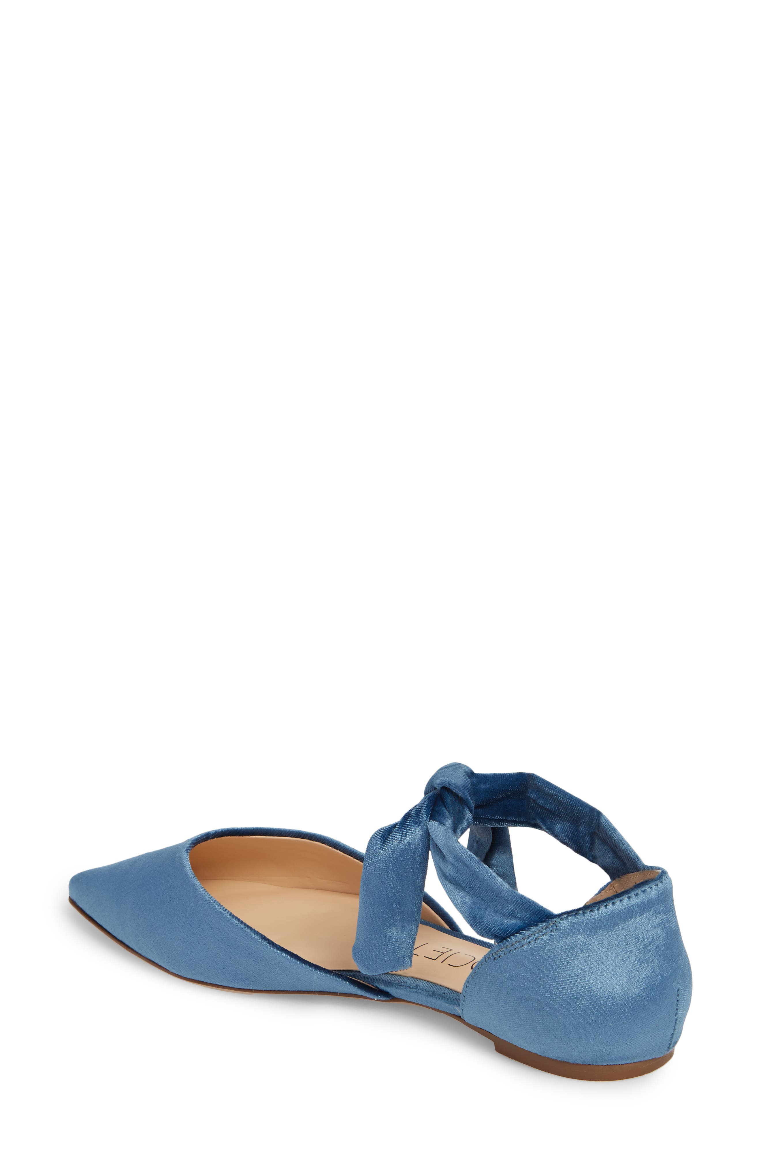Alternate Image 2  - Sole Society Teena d'Orsay Flat with Ties (Women)