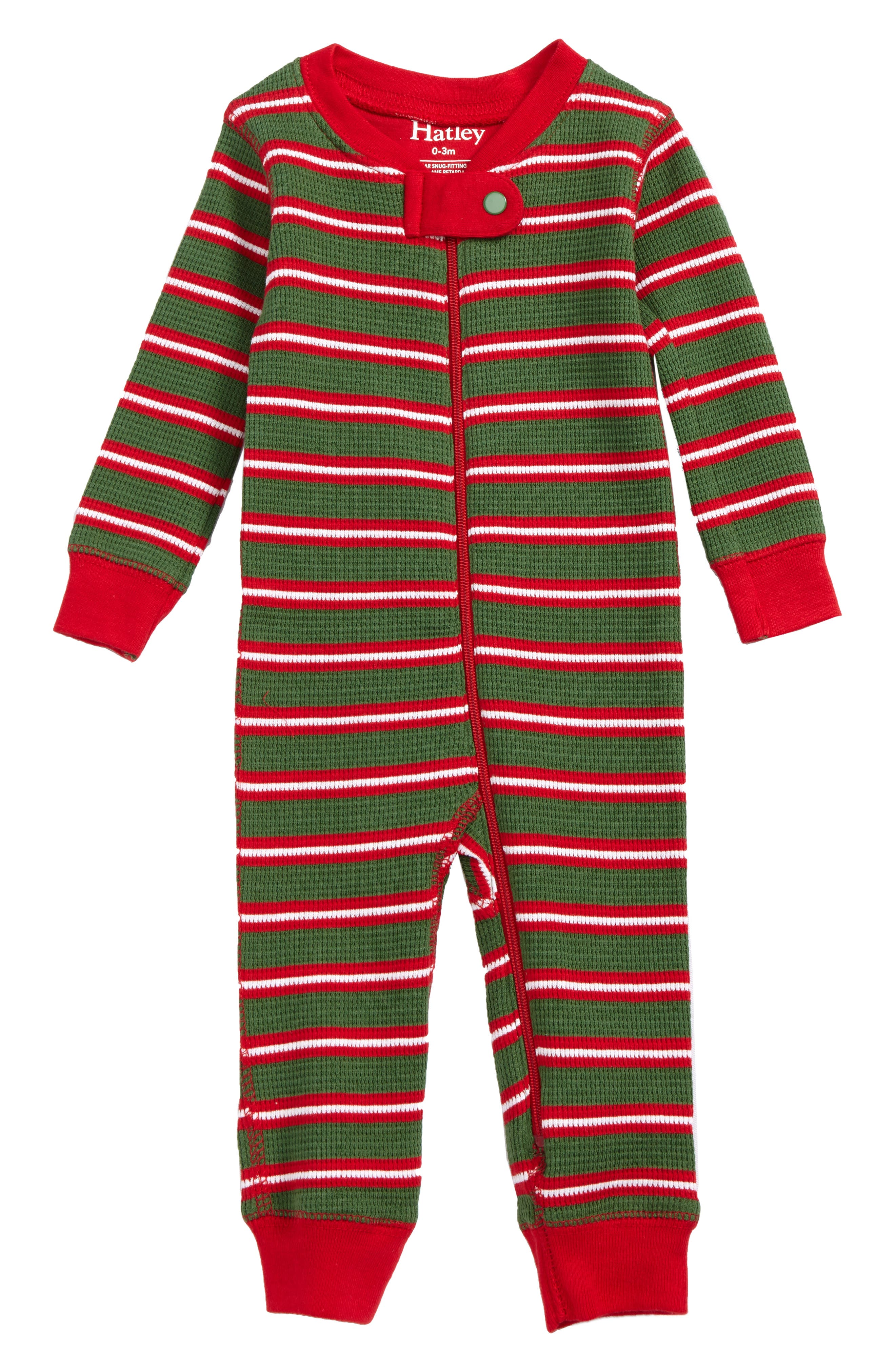 Hatley Waffle Knit Organic Cotton Fitted One-Piece Pajamas (Baby)