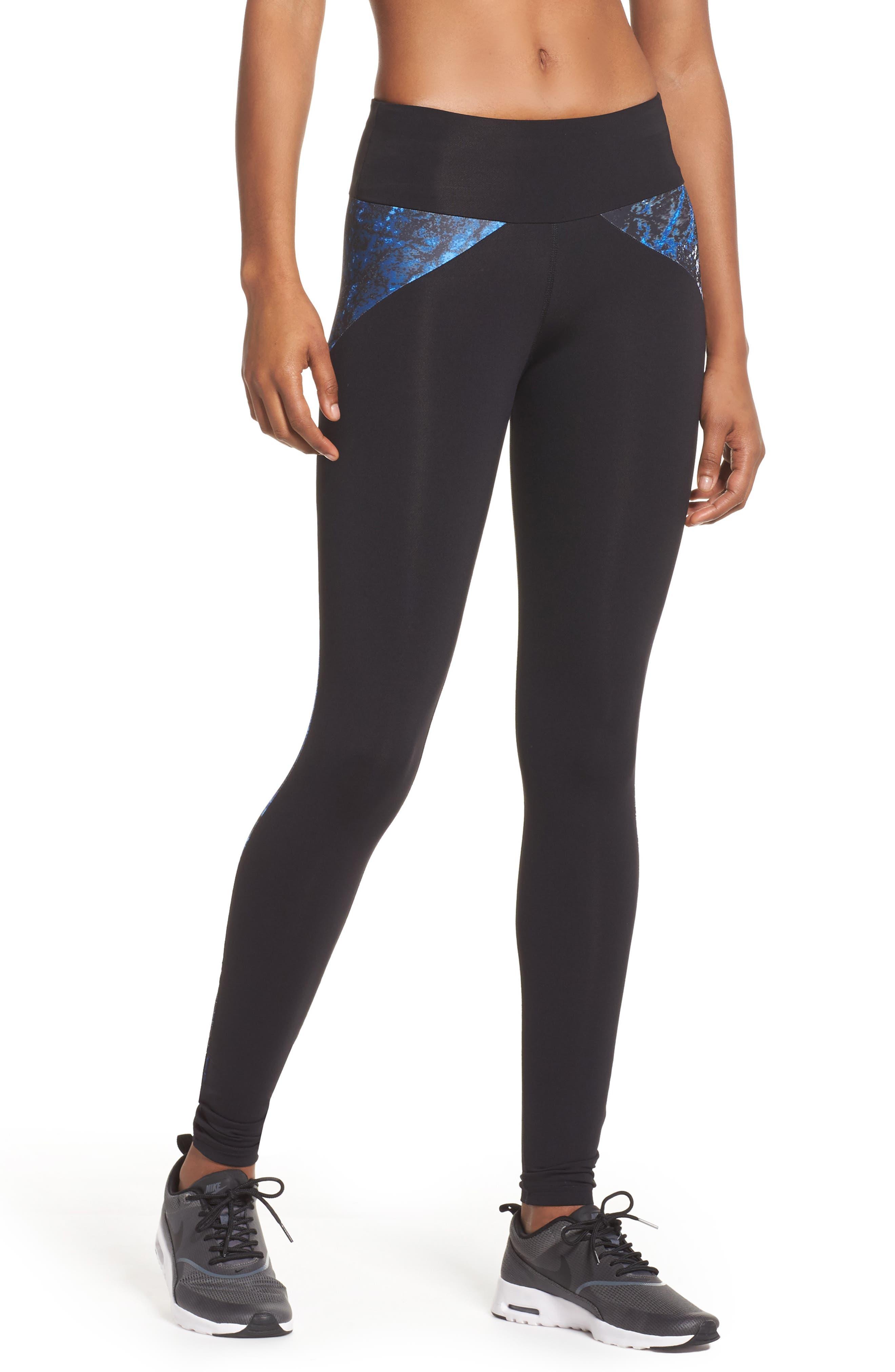 BoomBoom Athletica Colorblock Leggings,                         Main,                         color, Print