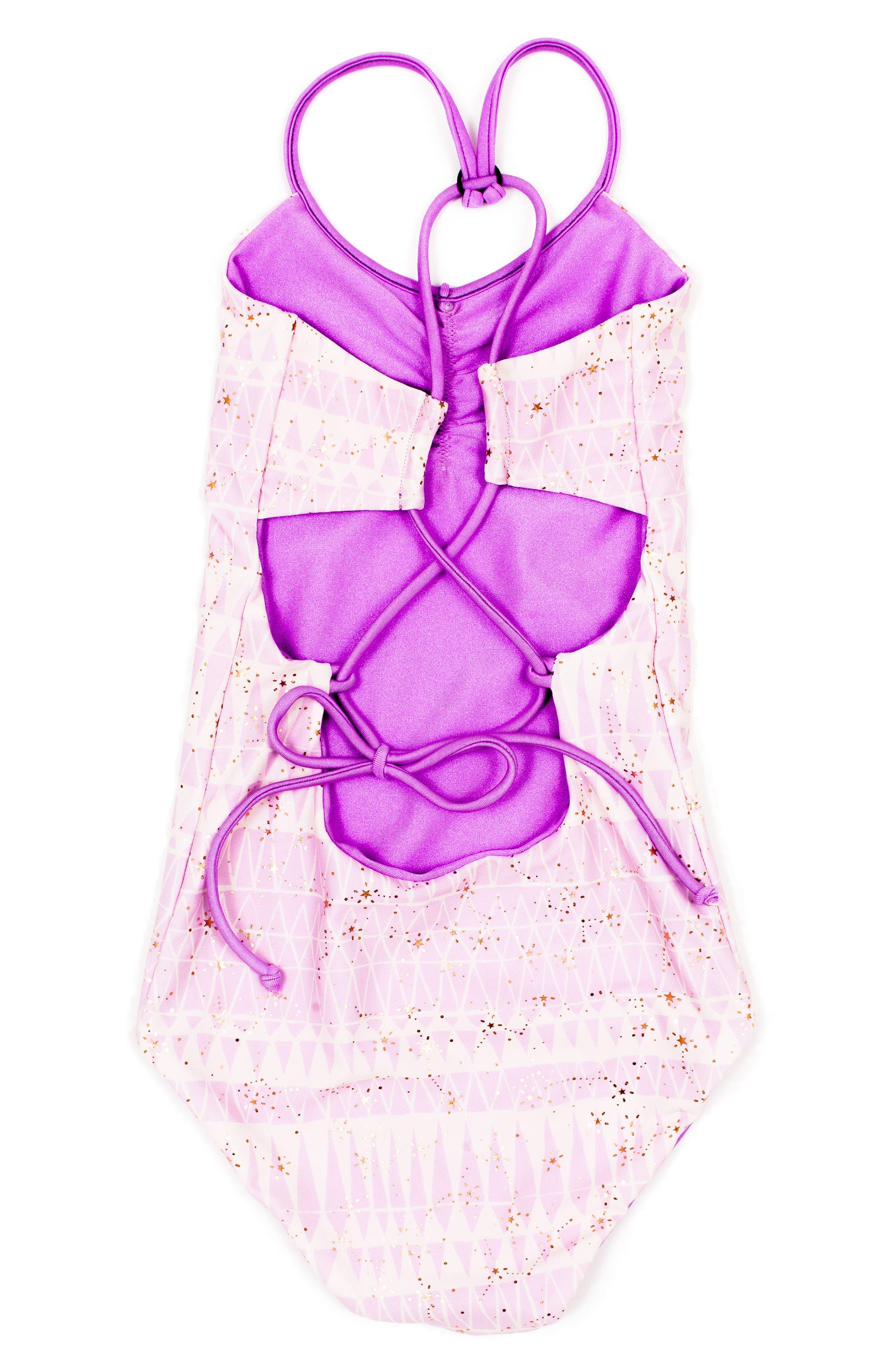 Catalinakini One-Piece Reversible Swimsuit,                             Alternate thumbnail 3, color,                             Lavender