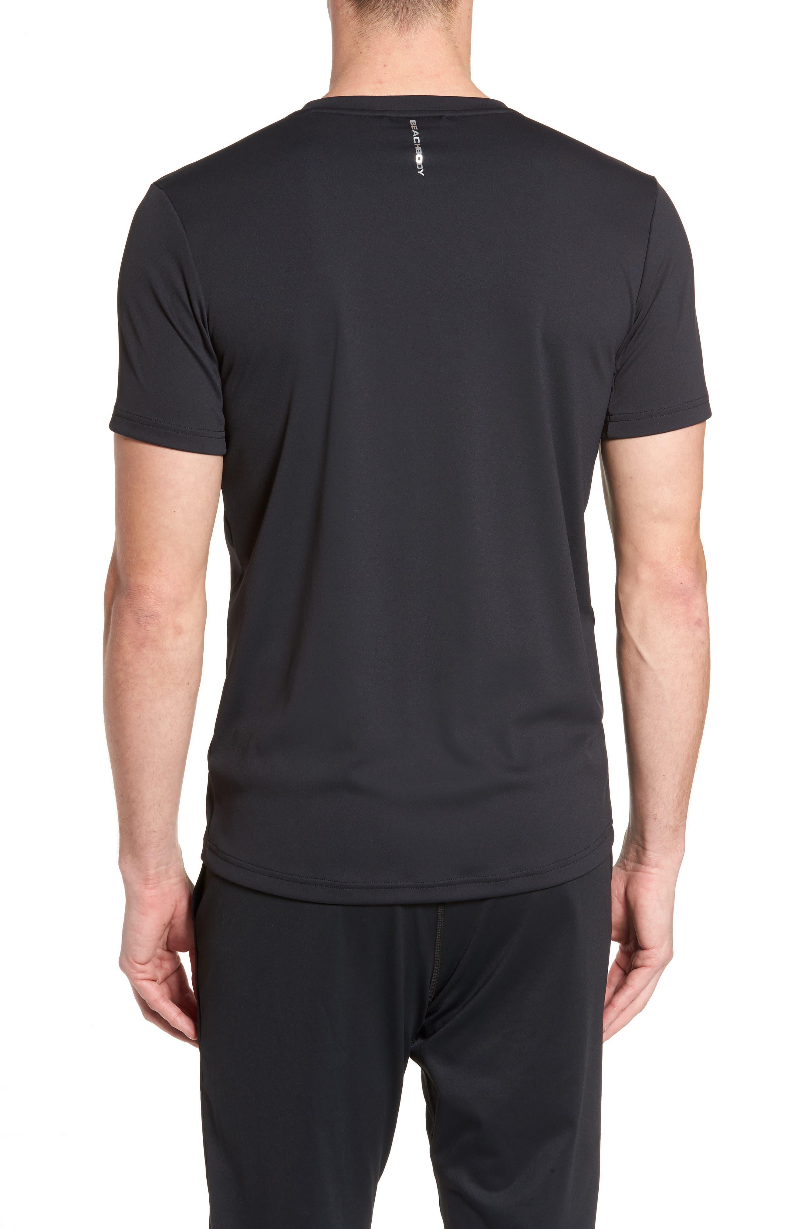 Energy V-Neck T-Shirt,                             Alternate thumbnail 2, color,                             Black