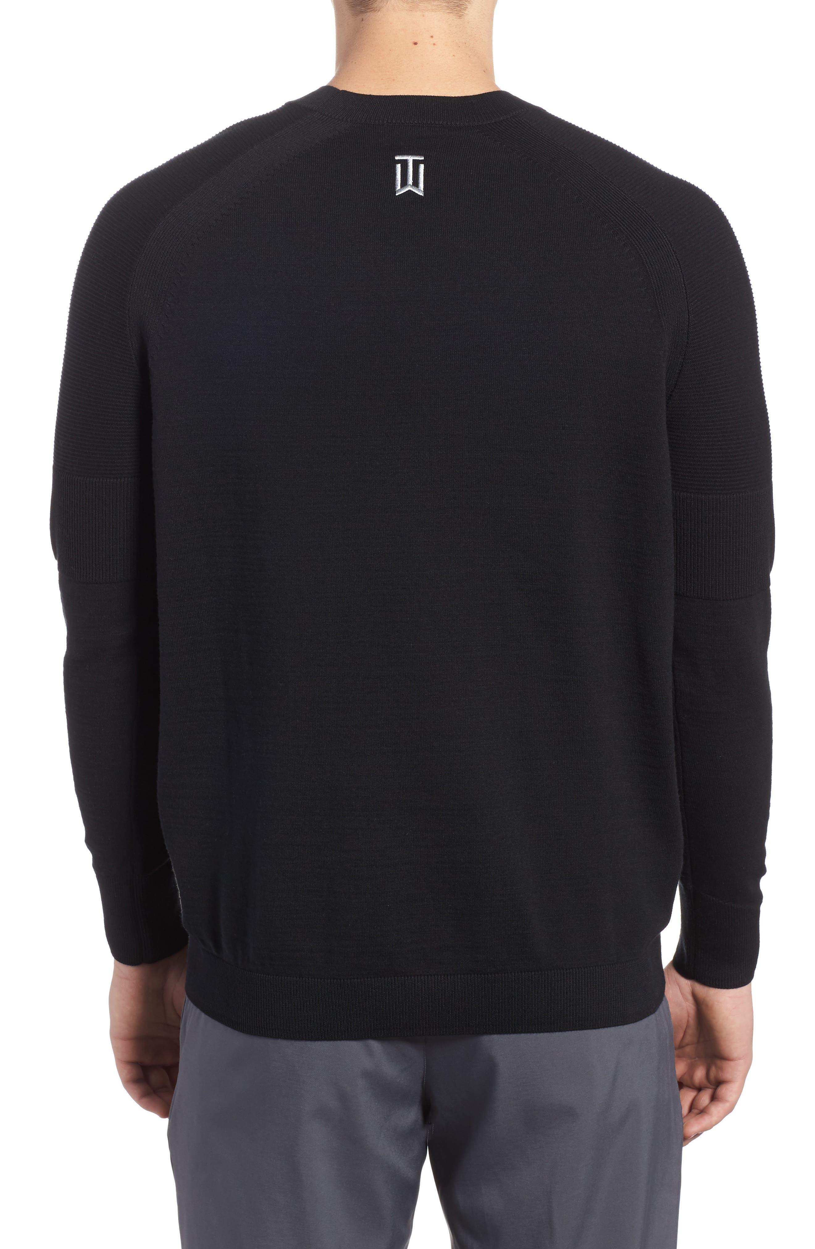 TW Cotton Blend Sweatshirt,                             Alternate thumbnail 2, color,                             Black/ Black