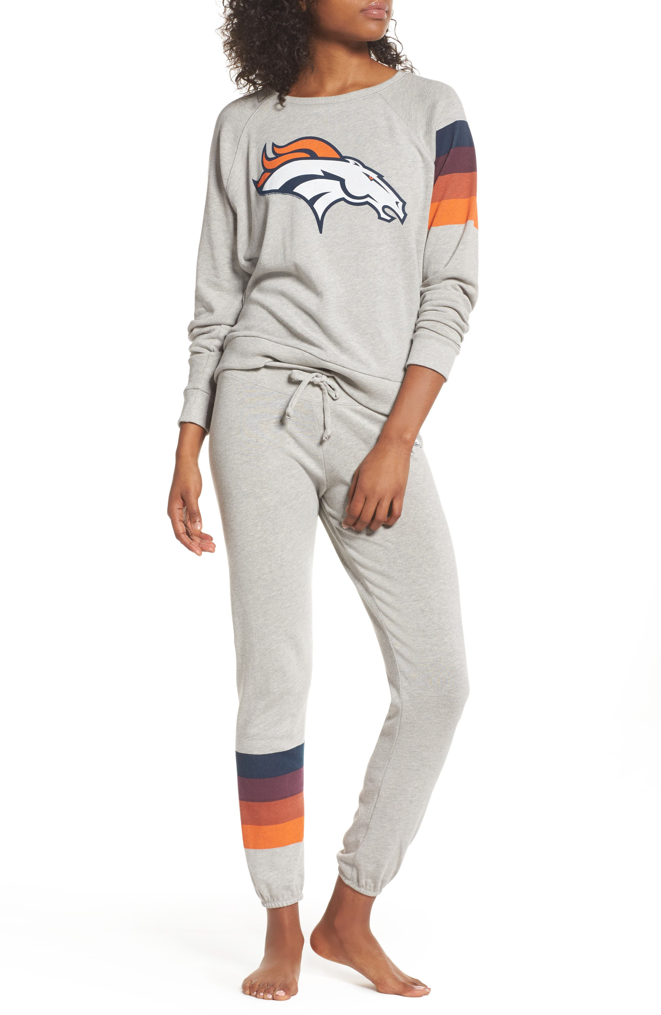 NFL Denver Broncos Hacci Sweatshirt,                             Alternate thumbnail 6, color,                             Dove Heather Grey