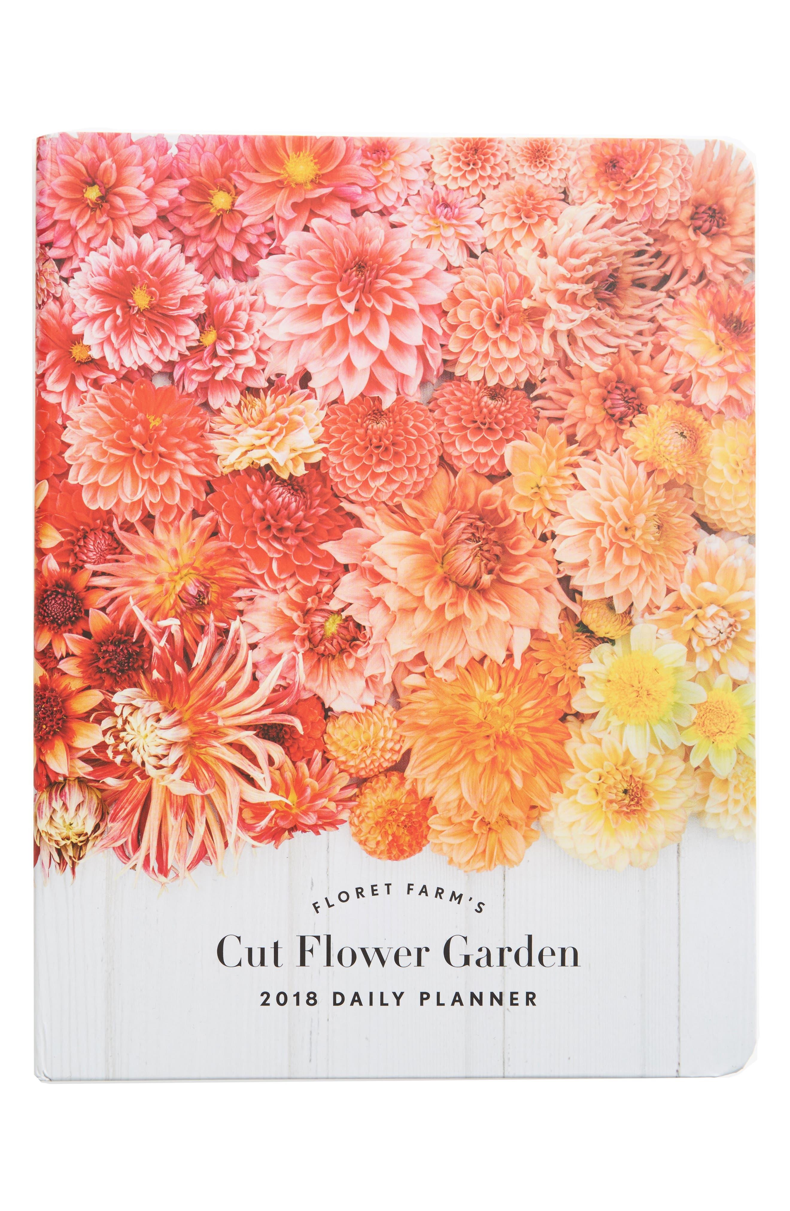 Floret Farms Cut Flower Garden 2018 Daily Planner,                             Main thumbnail 1, color,                             Pink