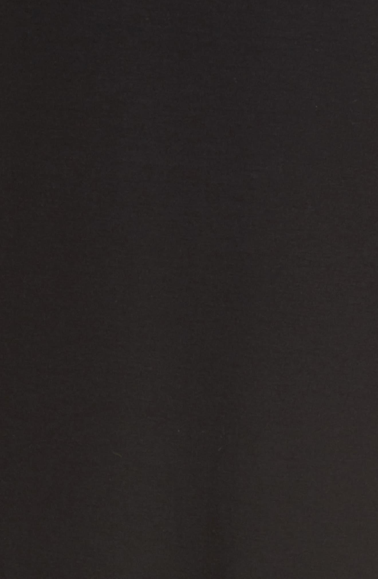 Jersey Shift Dress,                             Alternate thumbnail 5, color,                             Black