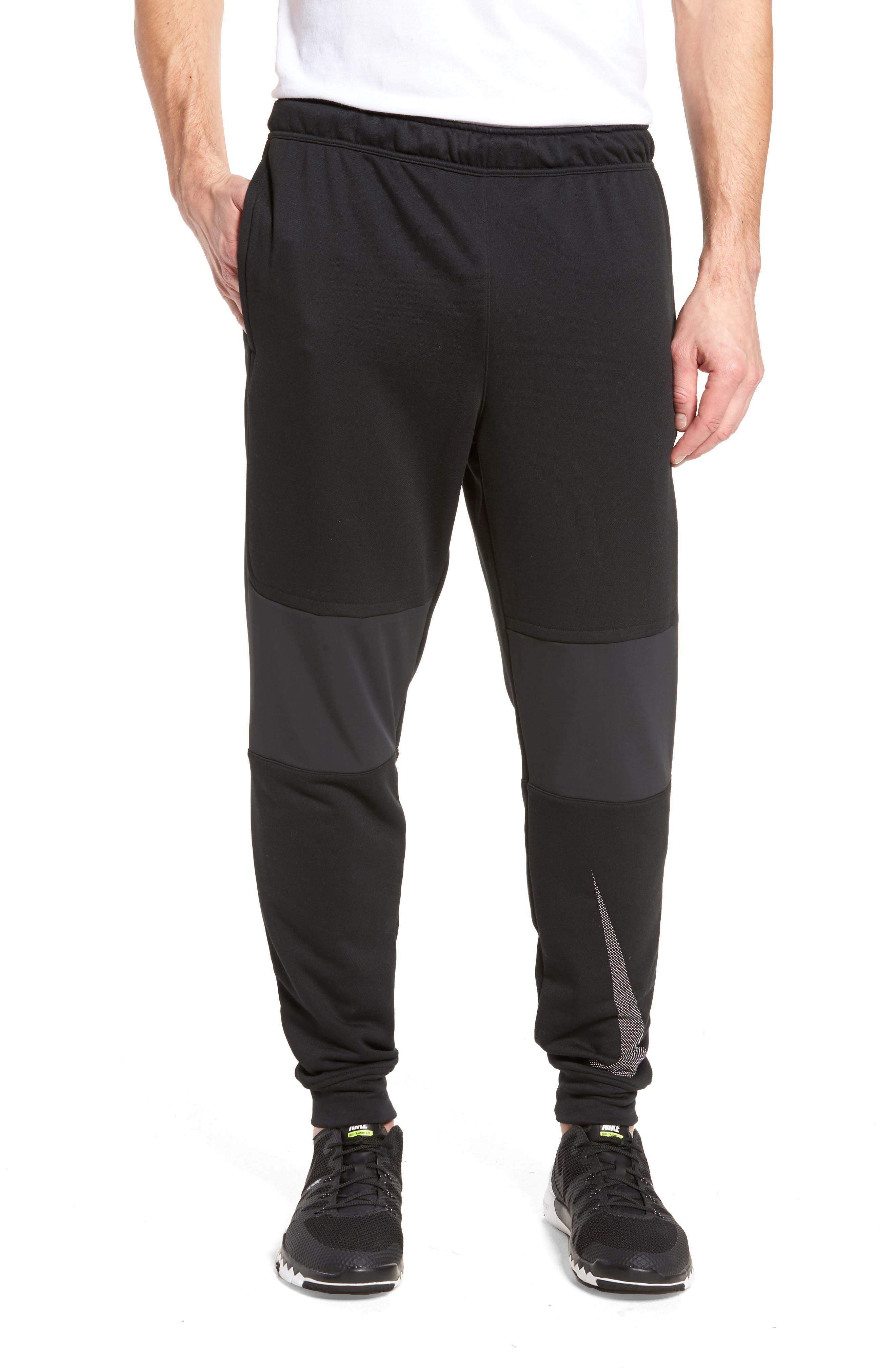 Training Project X Jogger Pants,                             Main thumbnail 1, color,                             Black/ Black/ White