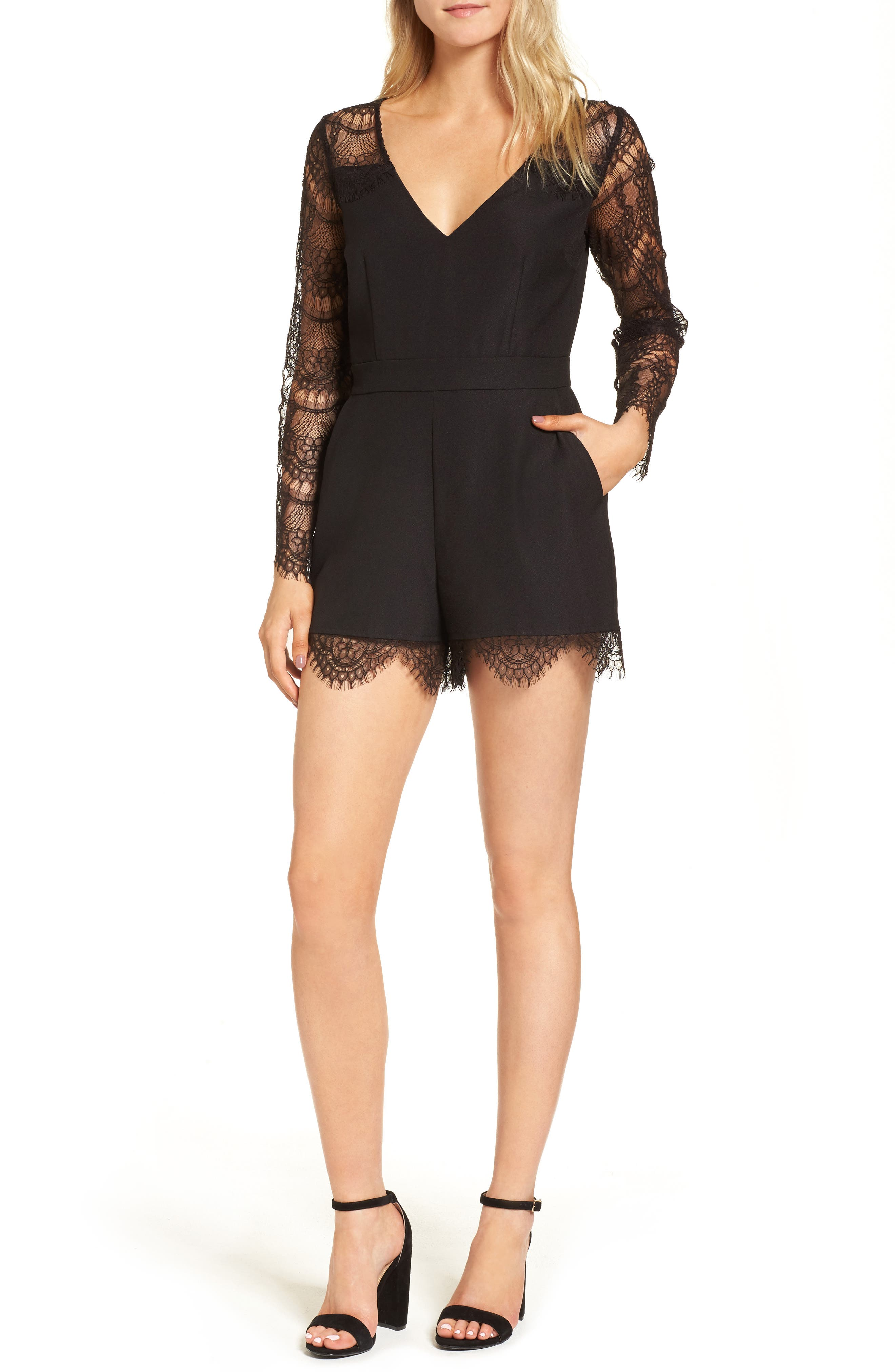cupcakes and cashmere Erma Lace Romper