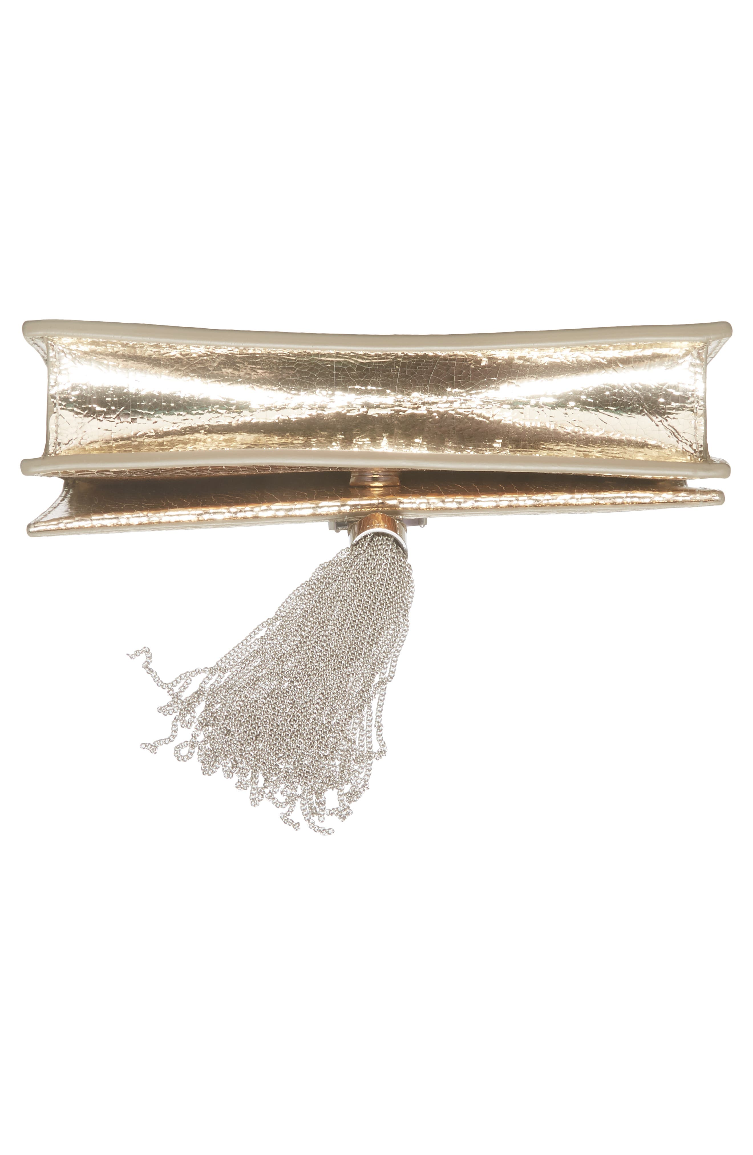 Alternate Image 6  - Saint Laurent Kate Crackle Calfskin Wallet on a Chain