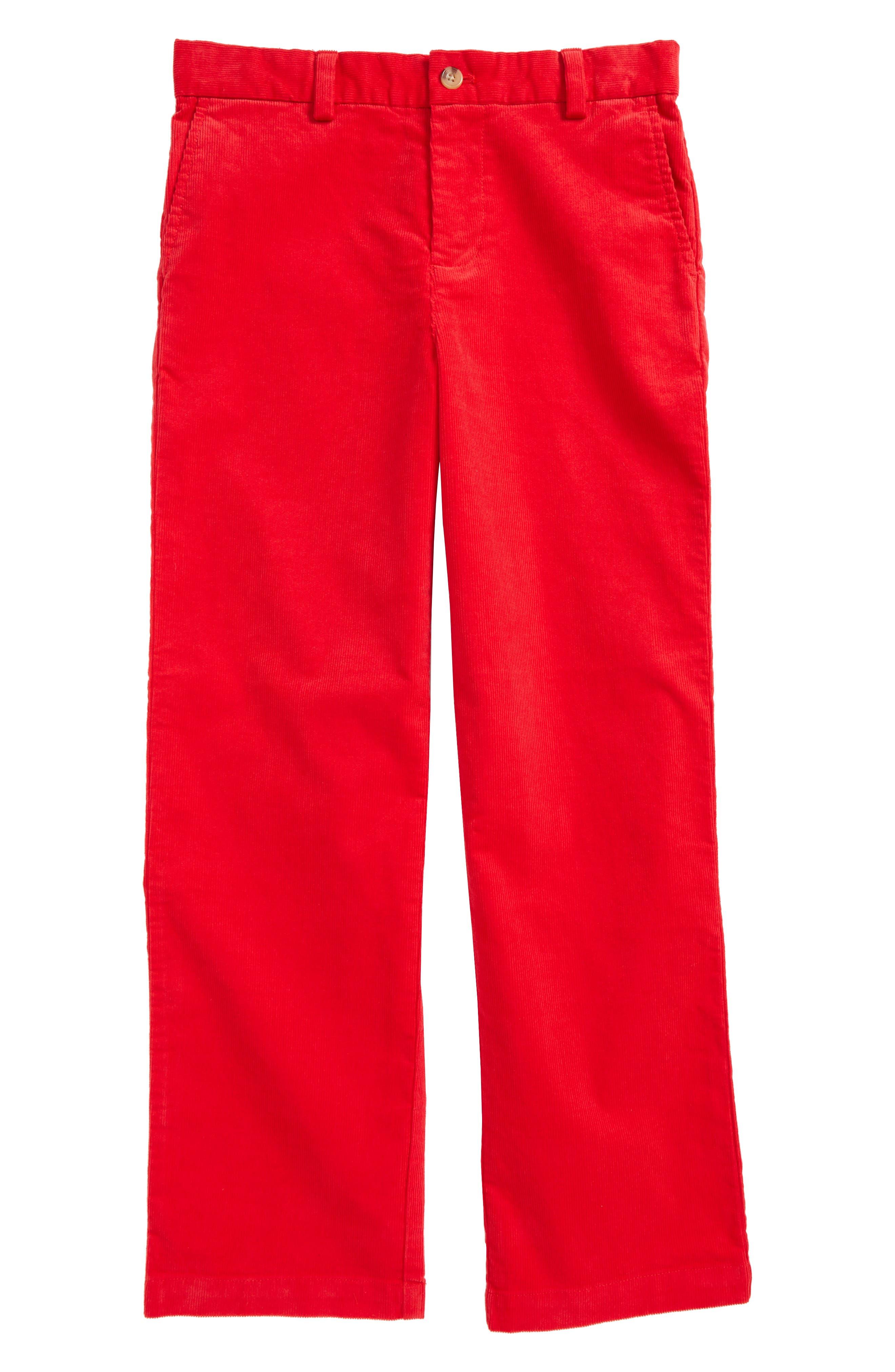 Breaker Corduroy Pants,                             Main thumbnail 1, color,                             Lighthouse Red