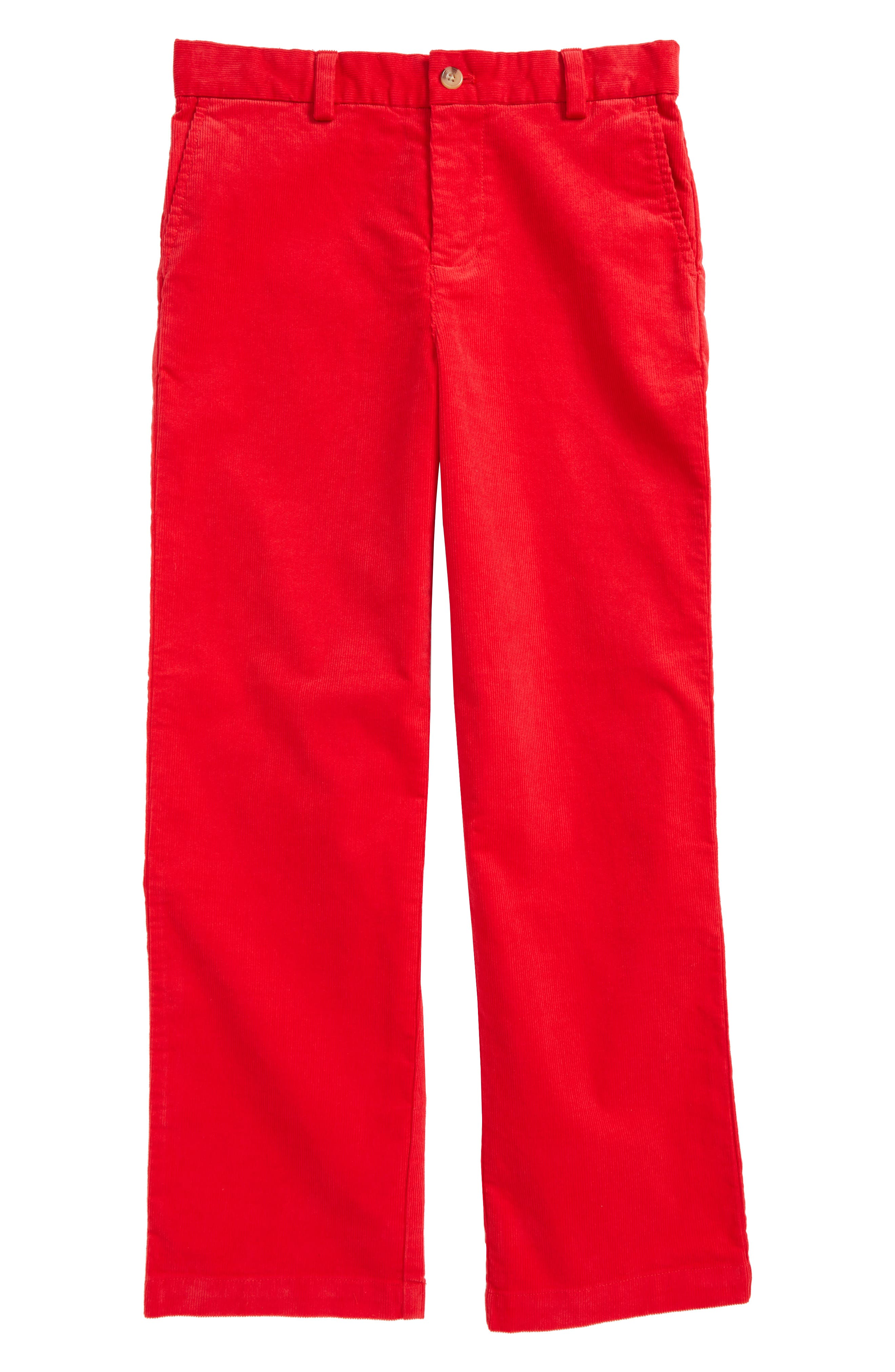 Breaker Corduroy Pants,                         Main,                         color, Lighthouse Red