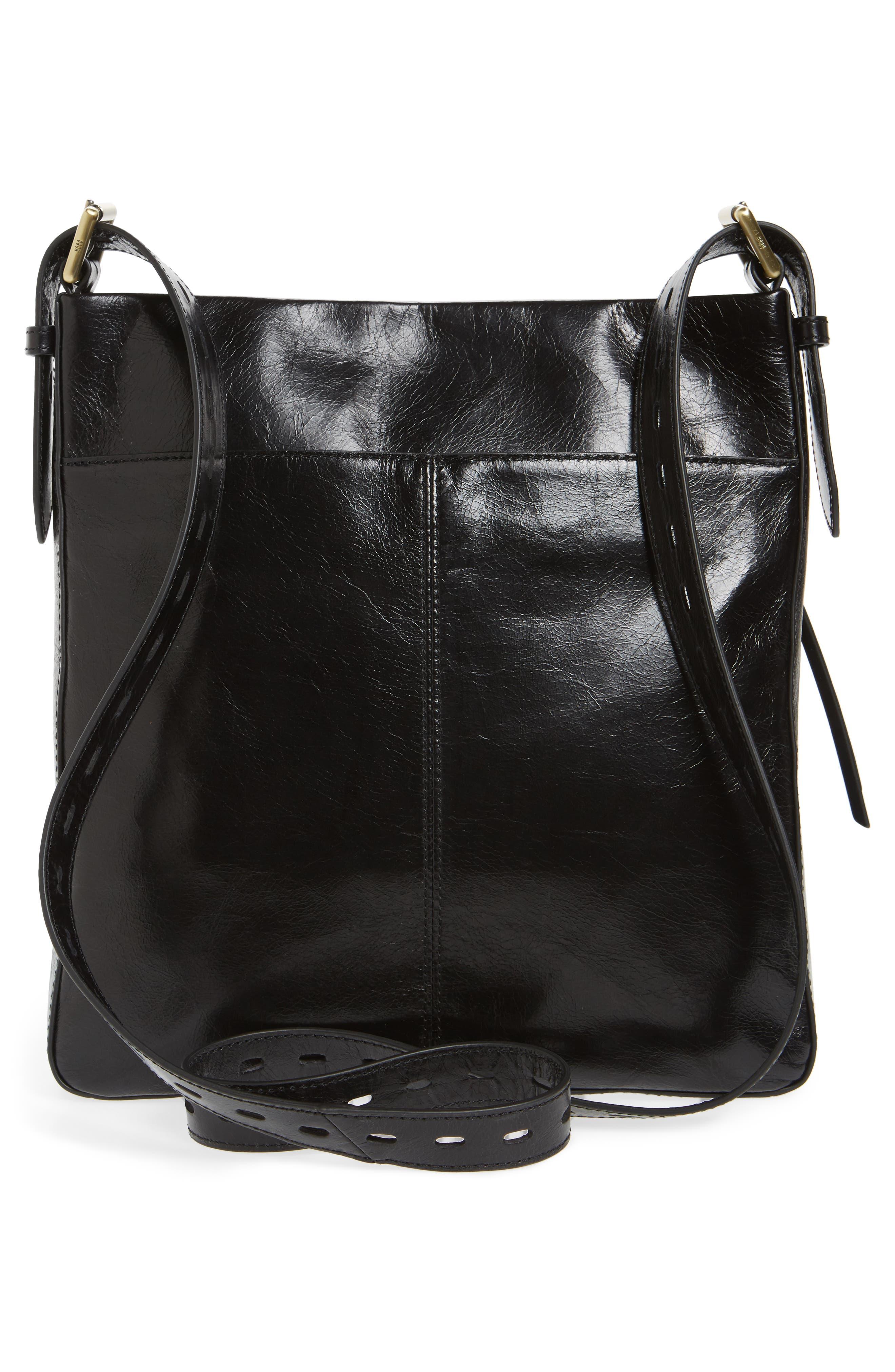 Crusade Leather Crossbody Bag,                             Alternate thumbnail 3, color,                             Black