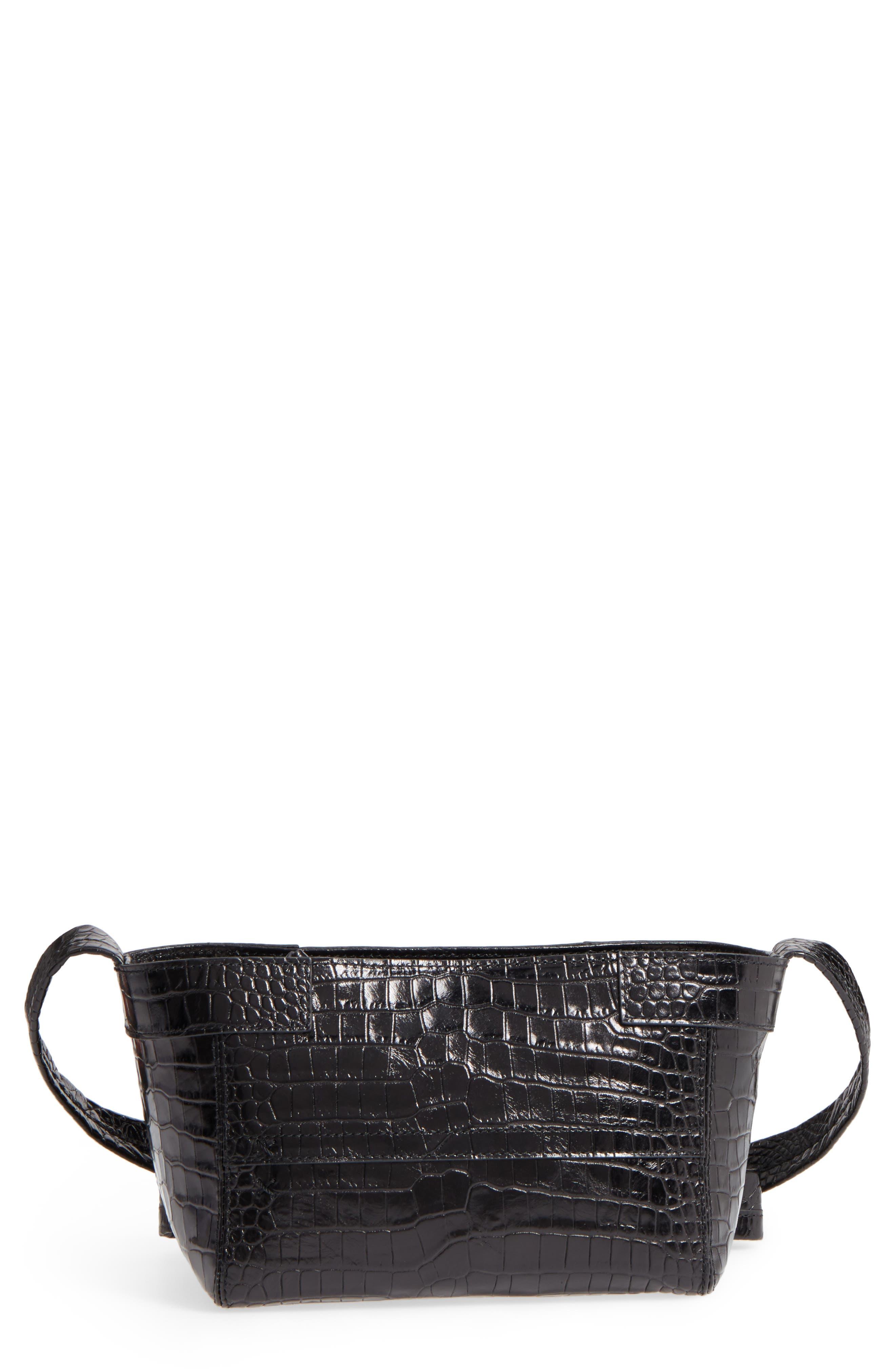 Keely Leather Crossbody Bag,                         Main,                         color, Black