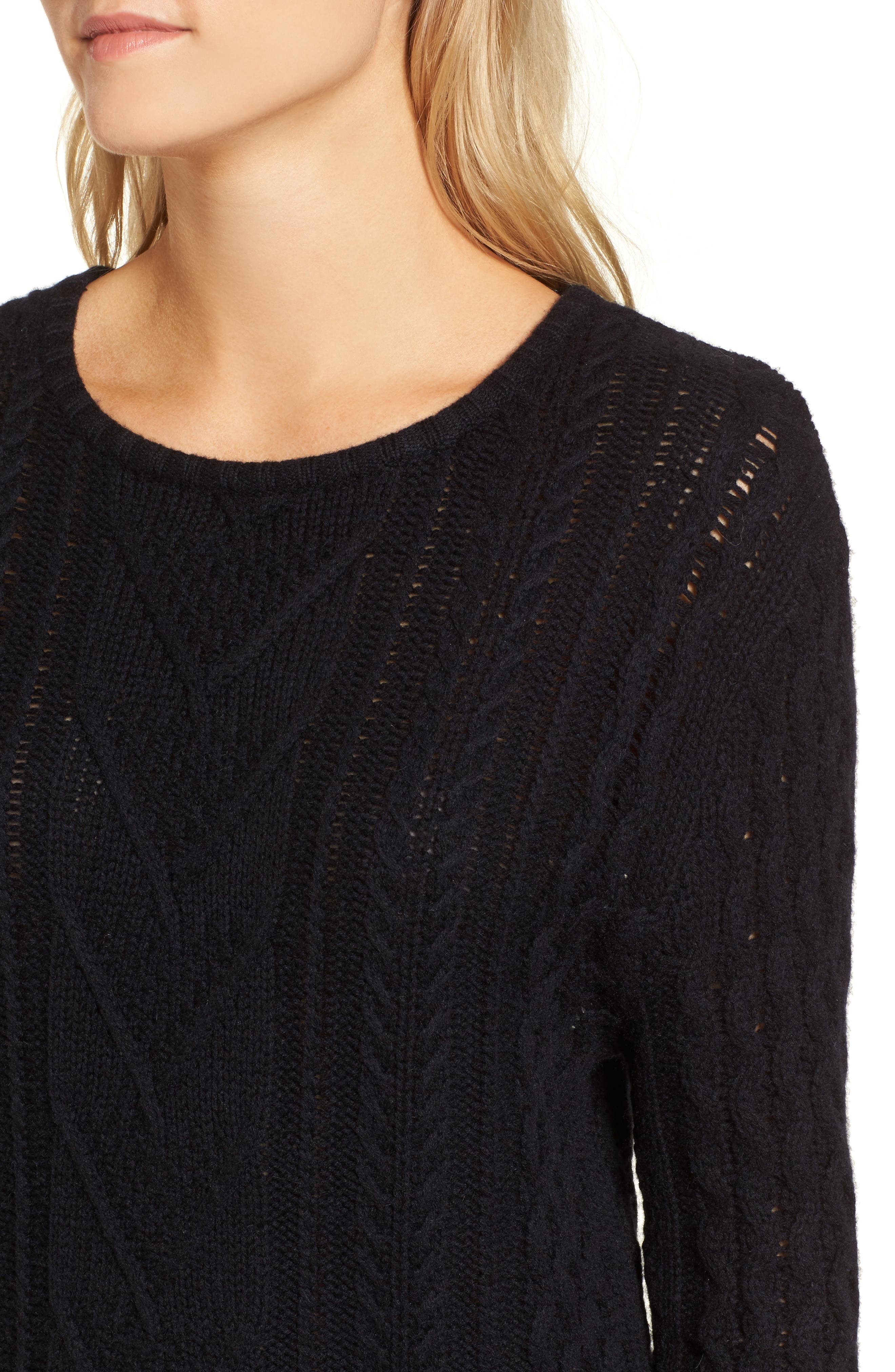 Jesse Sweater Minidress,                             Alternate thumbnail 4, color,                             Midnight