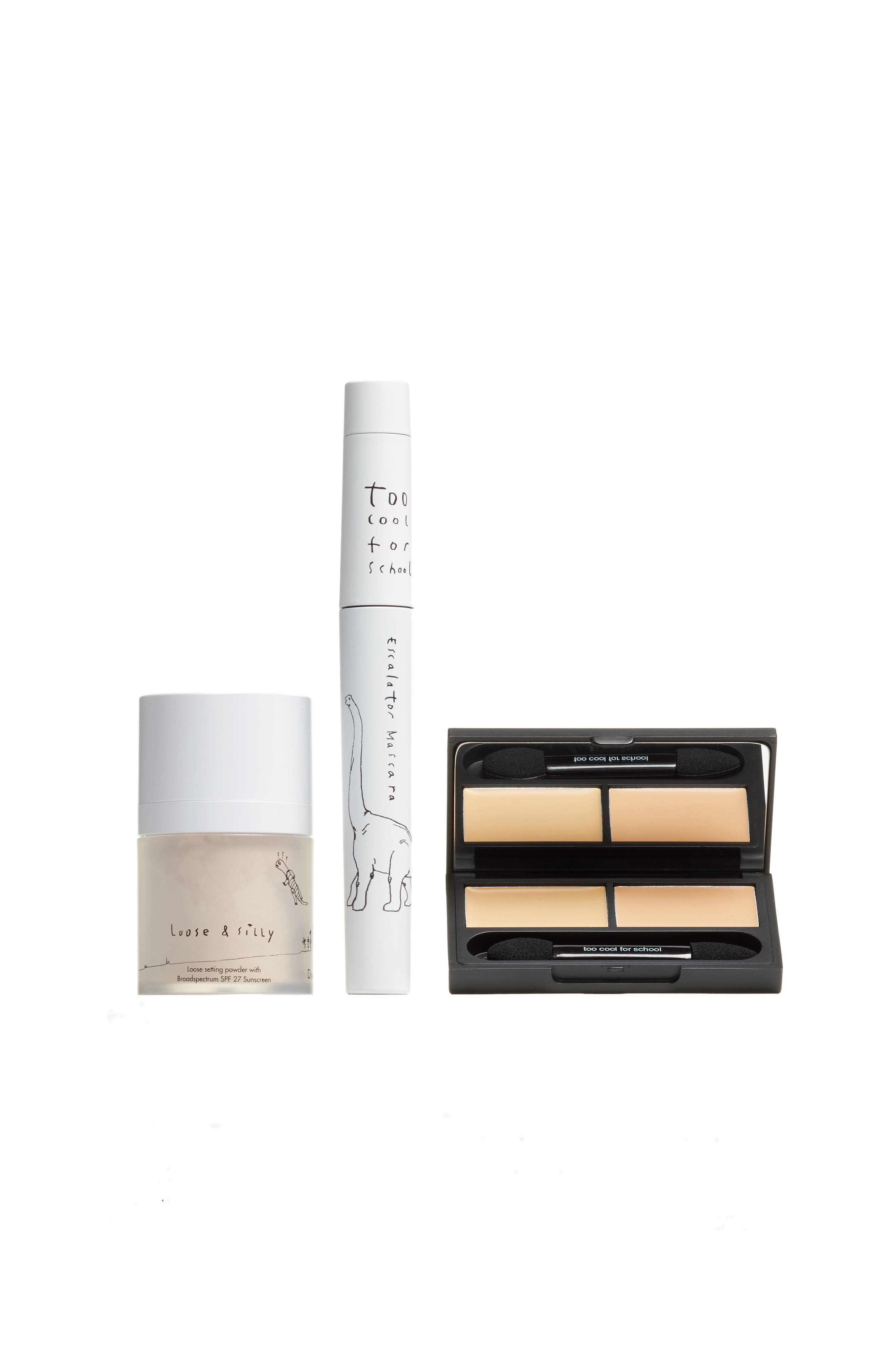 Too Cool for School Bare Minimum Look Dinoplatz Mascara, Setting Powder & Concealer Set