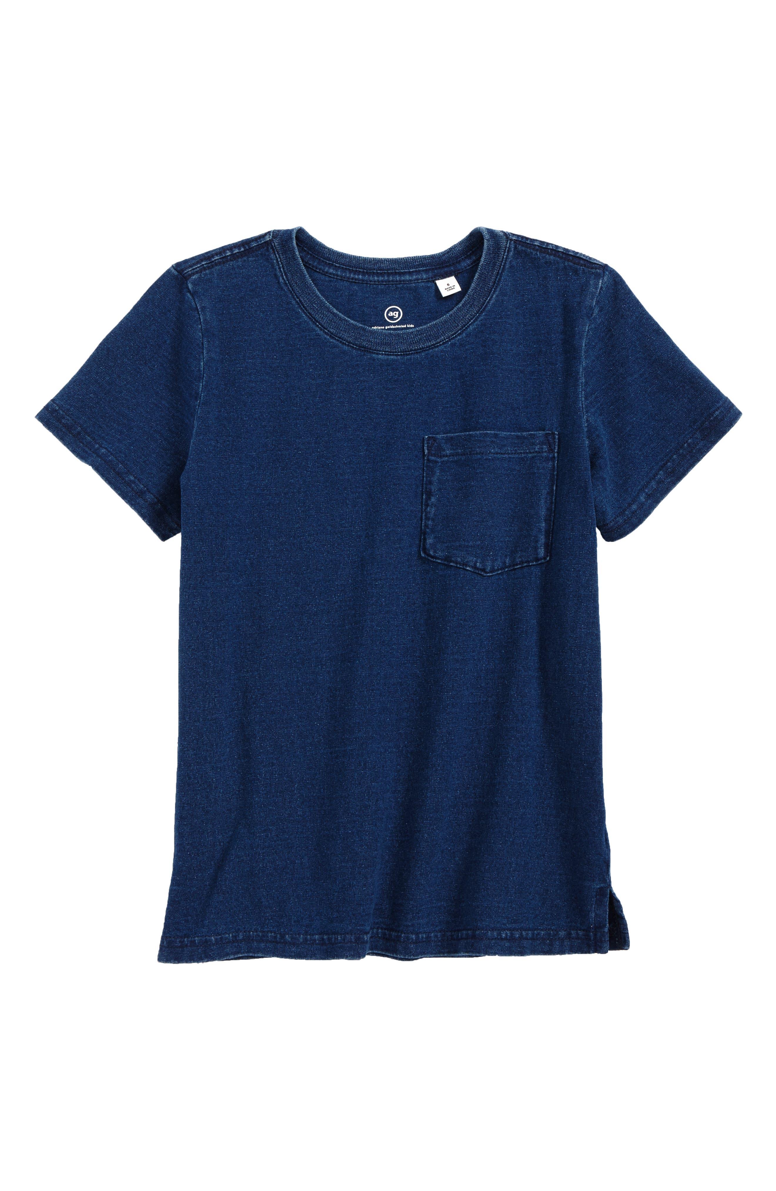 AG Pigment T-Shirt,                             Main thumbnail 1, color,                             Slate Indigo