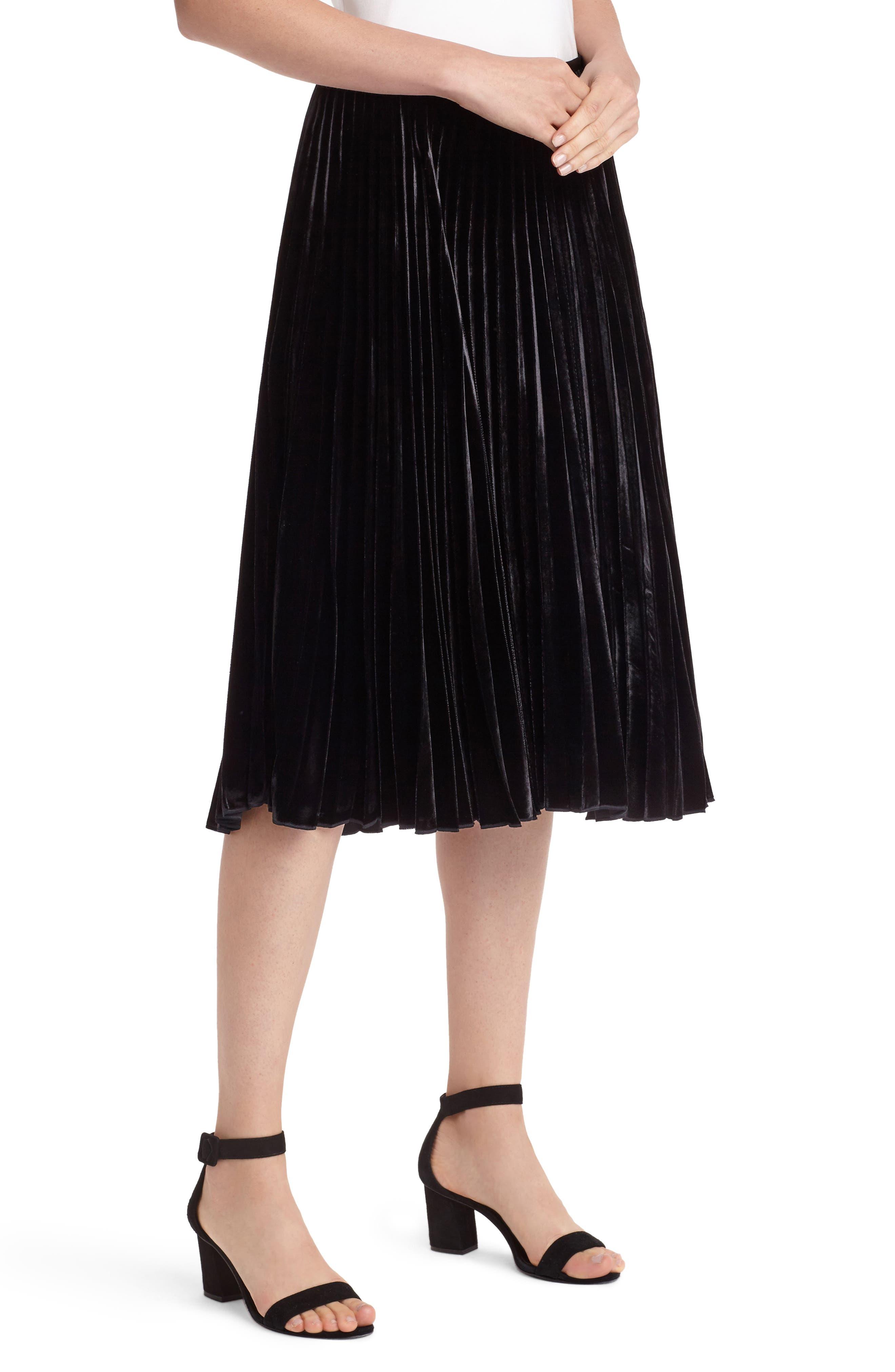 Alternate Image 3  - Lafayette 148 New York Ranella Velvet Skirt