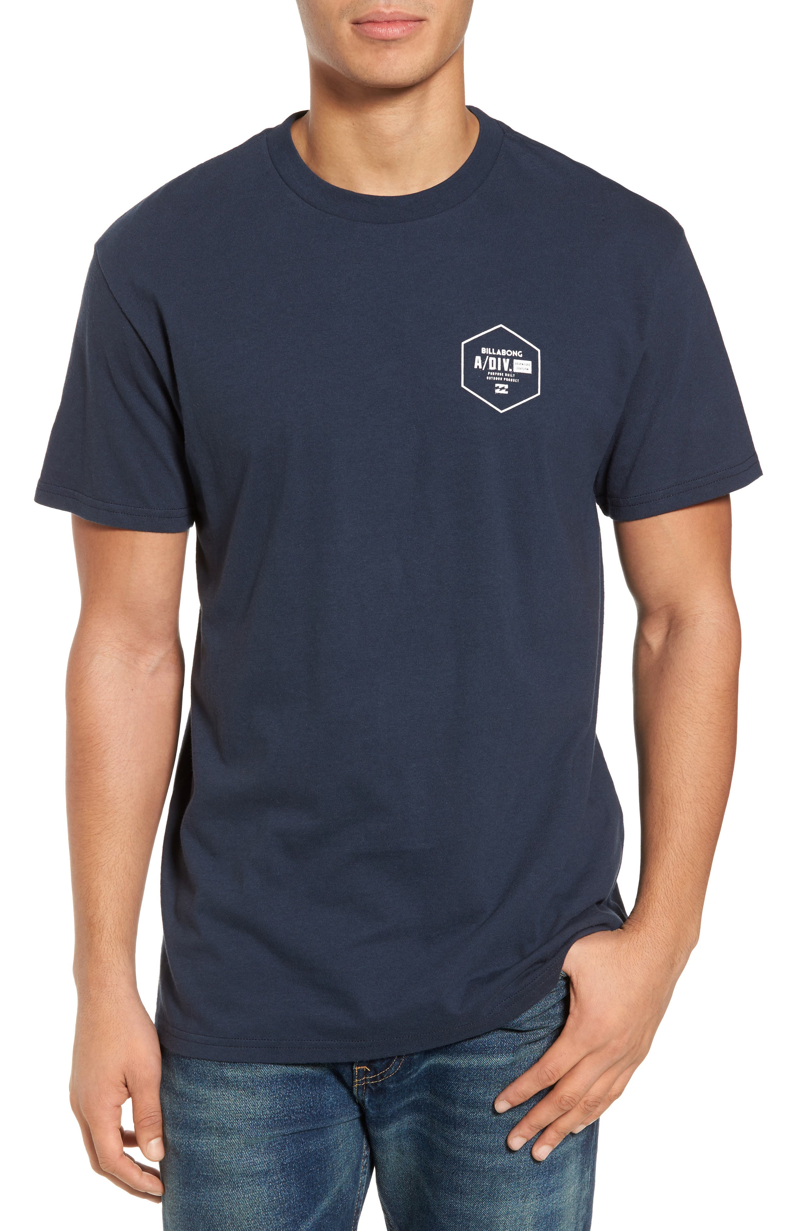 Storm Point Graphic T-Shirt,                             Main thumbnail 1, color,                             Navy
