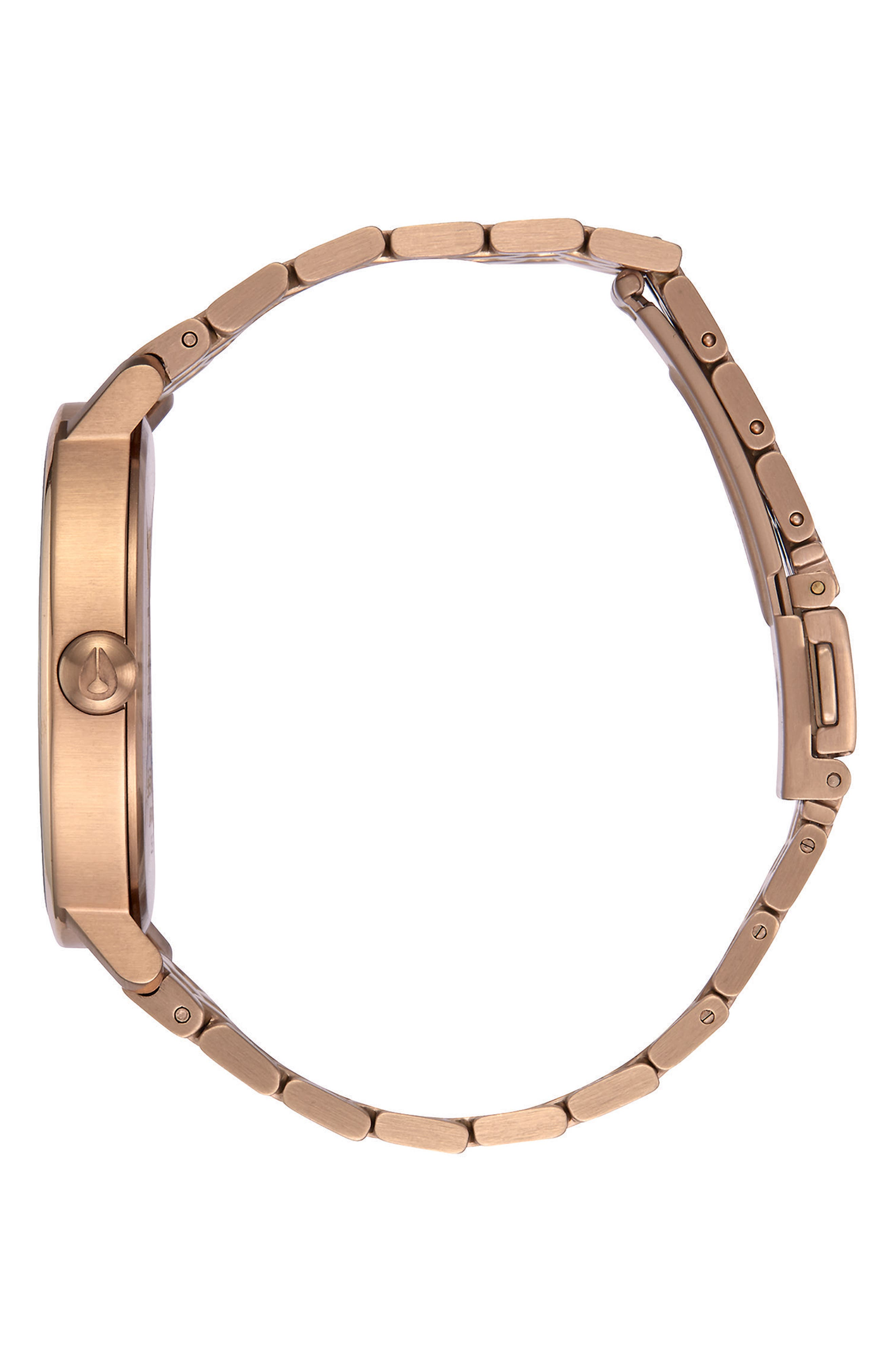 The Arrow Bracelet Watch, 38mm,                             Alternate thumbnail 4, color,                             Rose Gold/ Brown/ Rose Gold