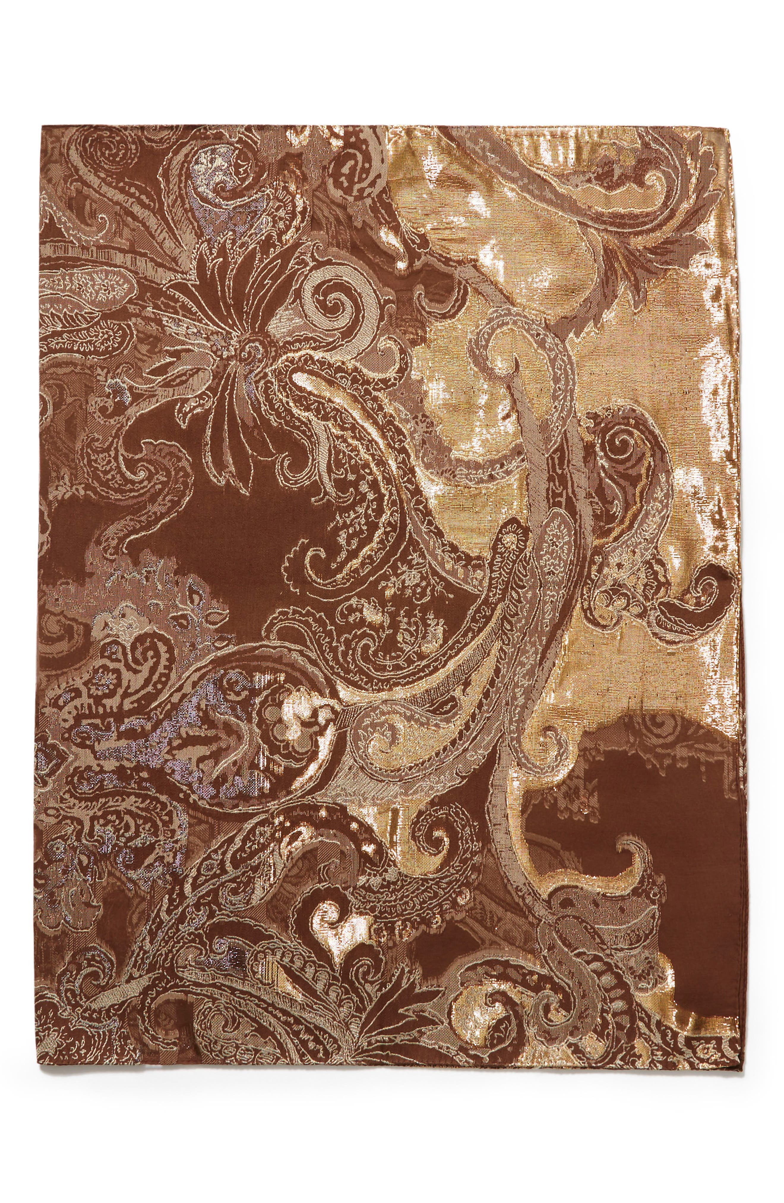 Alternate Image 3  - Lafayette 148 New York Guilded Paisley Scarf