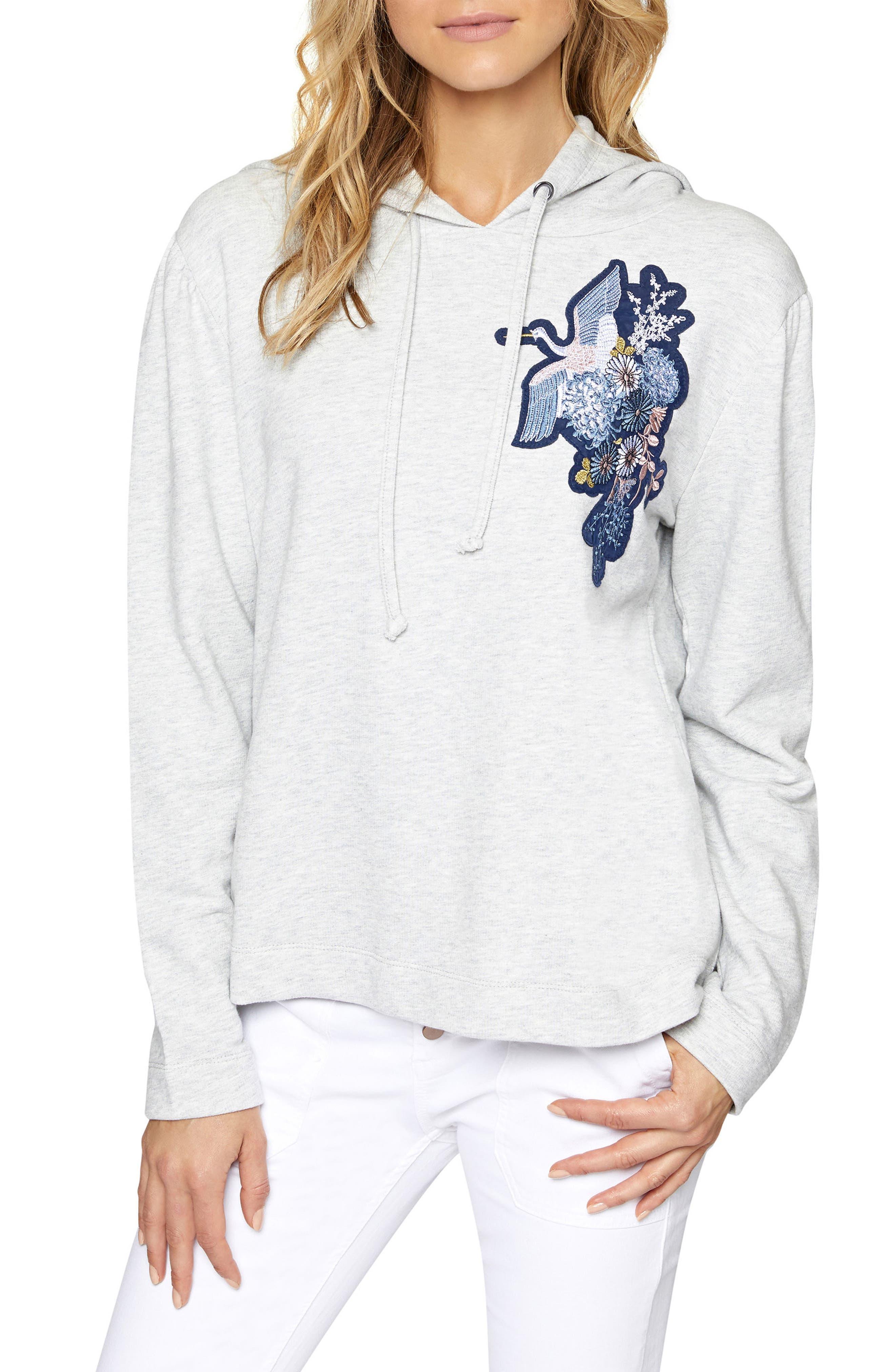 Crane Hooded Sweatshirt,                         Main,                         color, Heather Sterling