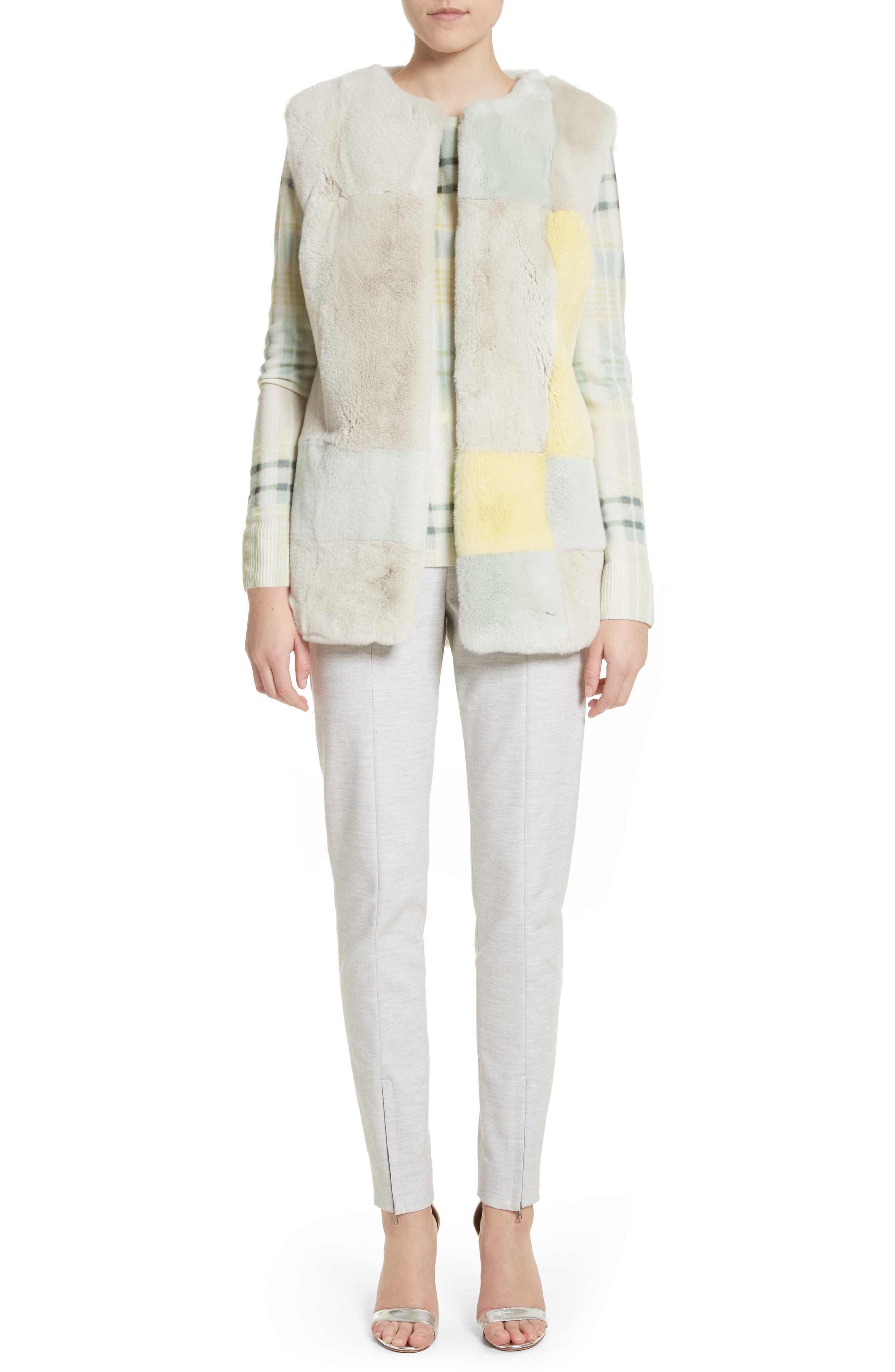 Summer Bella Double Weave Pants,                             Alternate thumbnail 6, color,                             Light Grey Melange