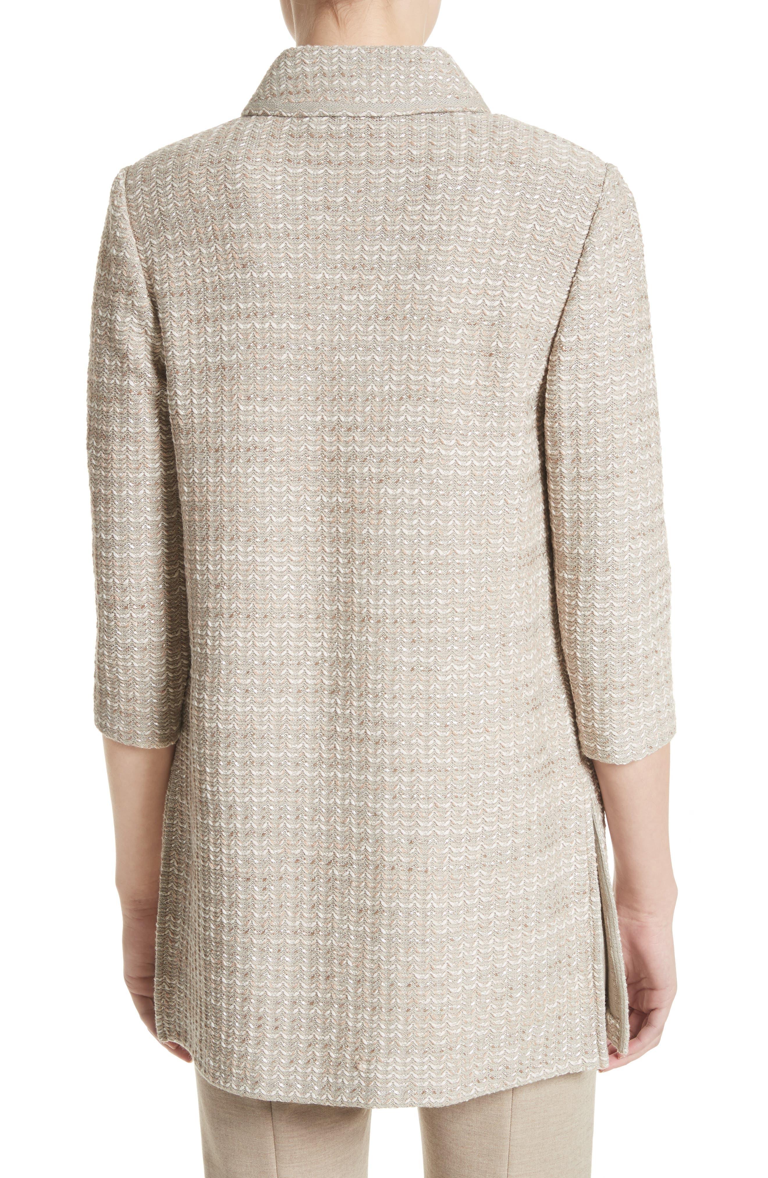 Alternate Image 2  - St. John Collection Chevron Knit Shantung Jacket