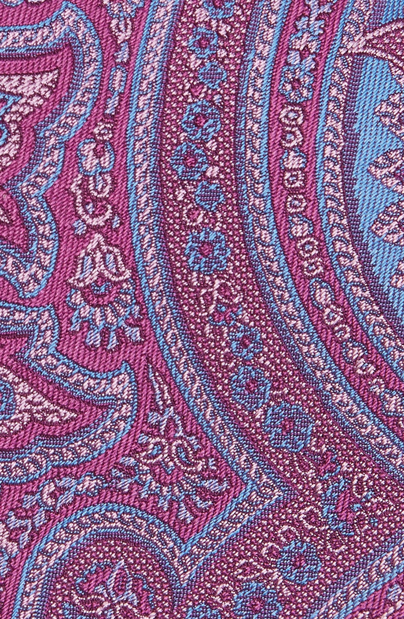 Paisley Silk Tie,                             Alternate thumbnail 2, color,                             Berry