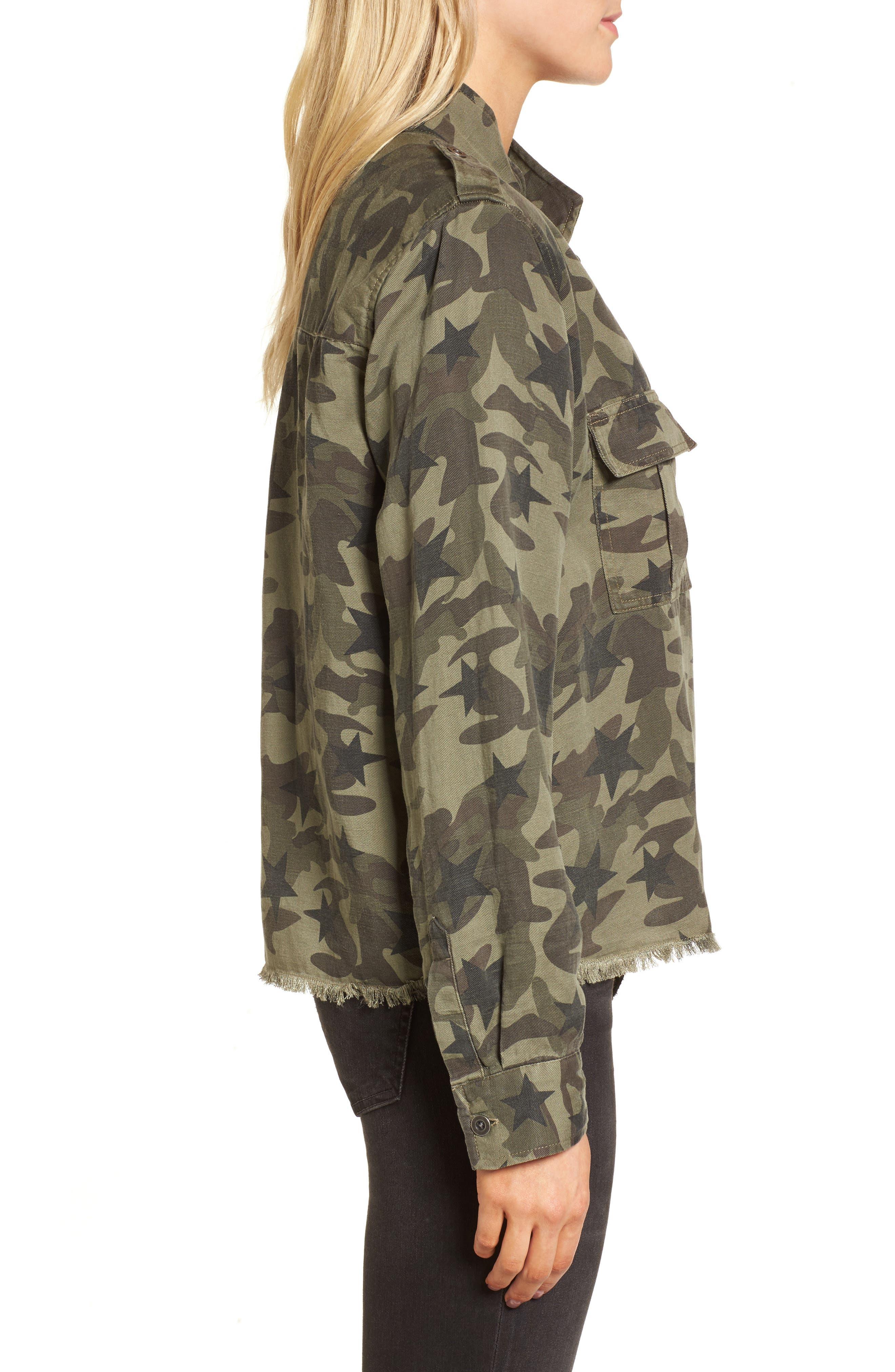 Hendrick Camo Military Jacket,                             Alternate thumbnail 3, color,                             Star Camo