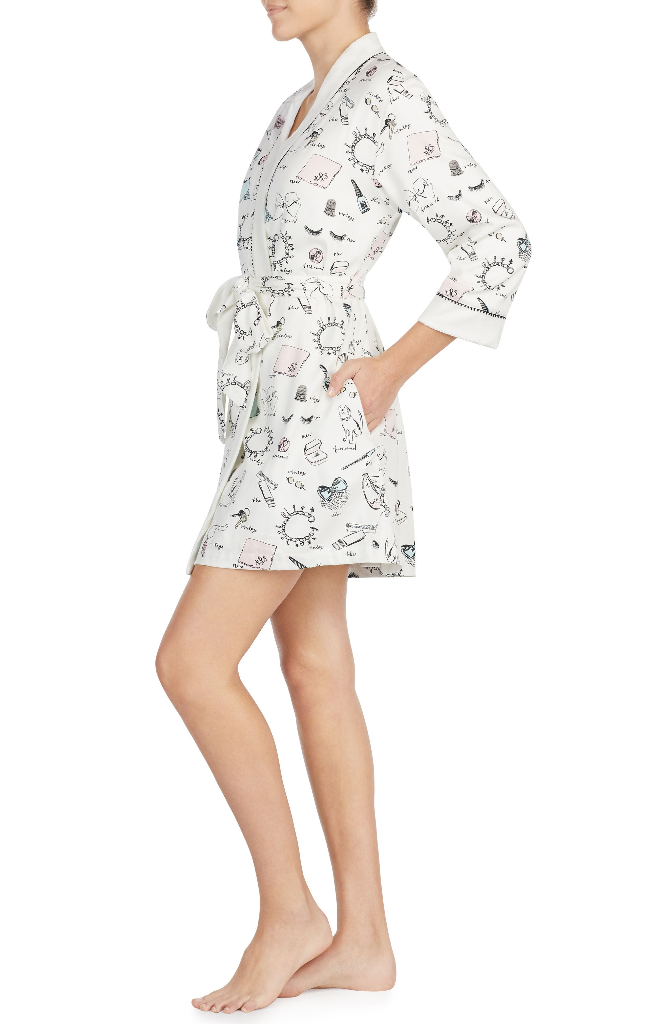 Alternate Image 3  - kate spade new york print robe