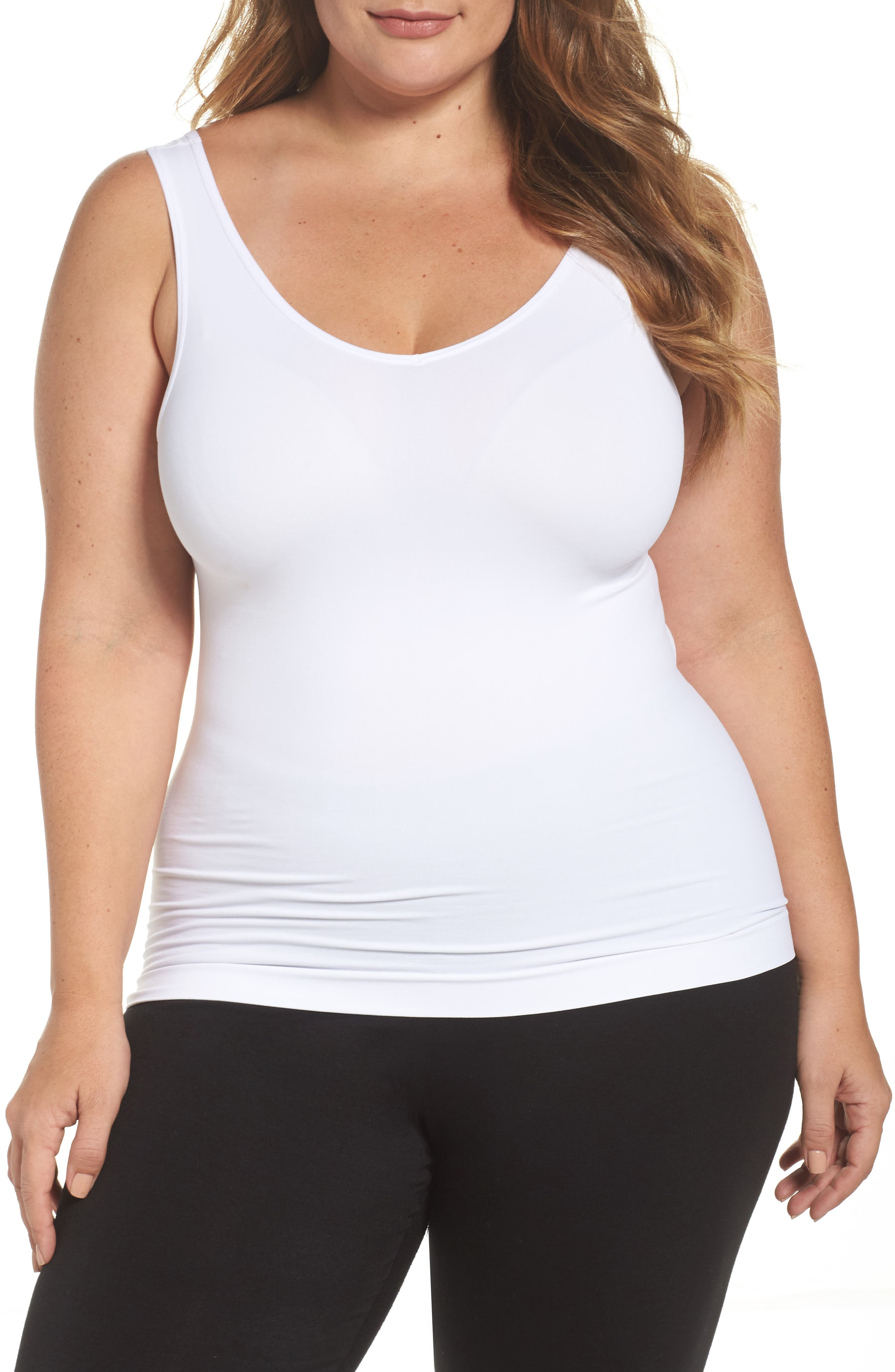 Halogen® Seamless Two-Way Tank (Plus Size) (2 for $49)