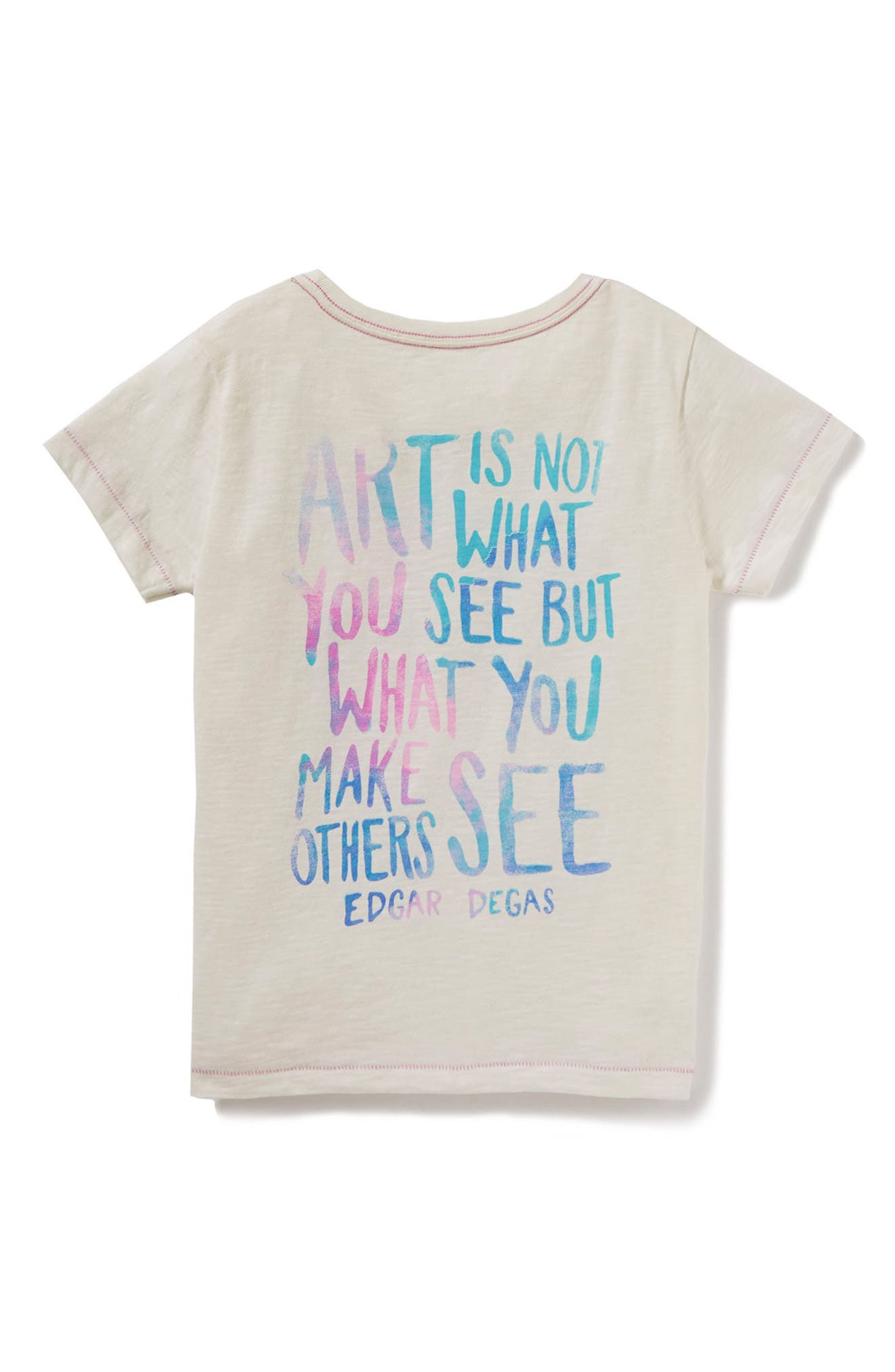Art Is Not What You See Graphic Tee,                             Alternate thumbnail 2, color,                             White