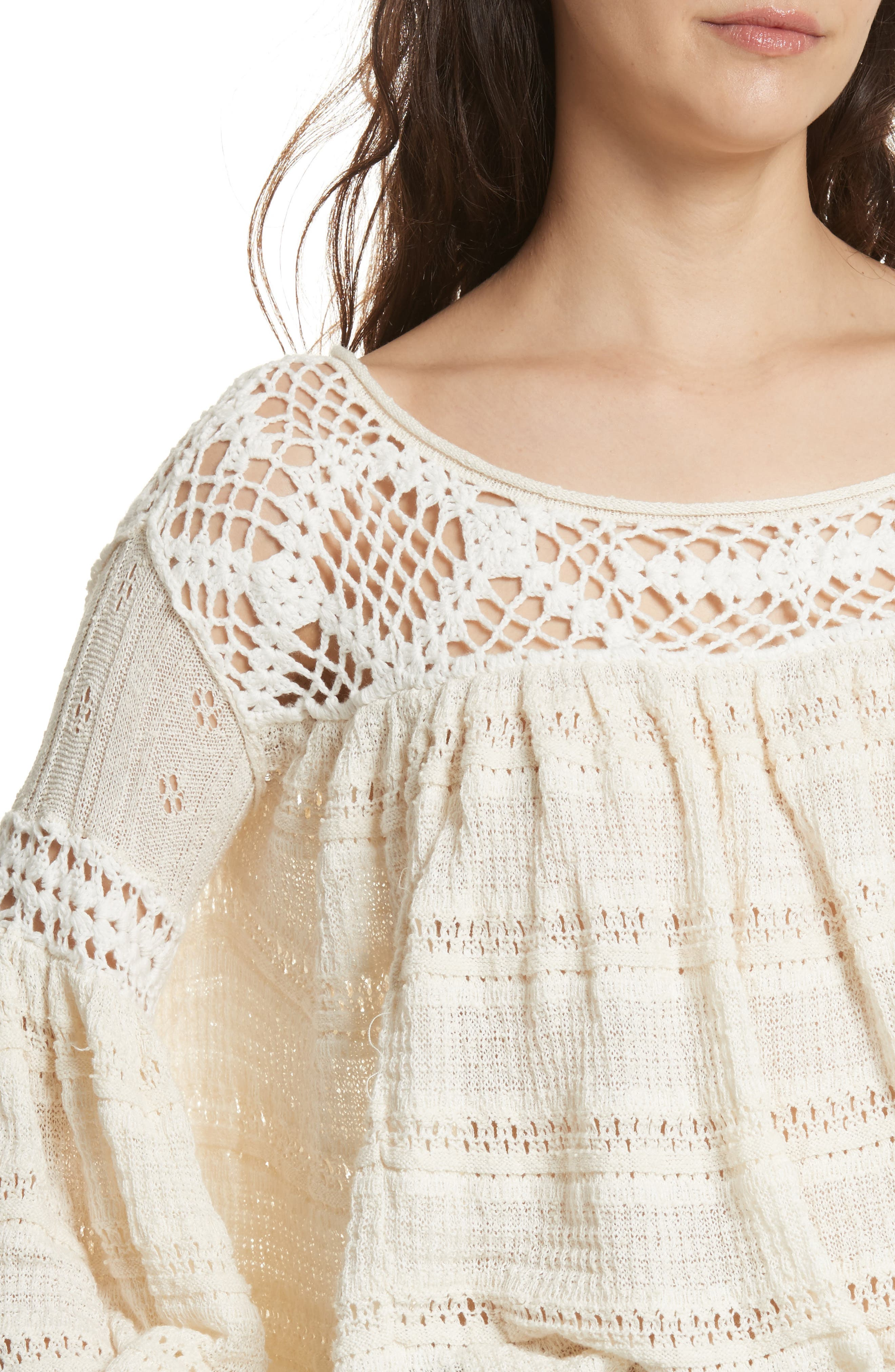 Someday Sweater,                             Alternate thumbnail 4, color,                             Ivory