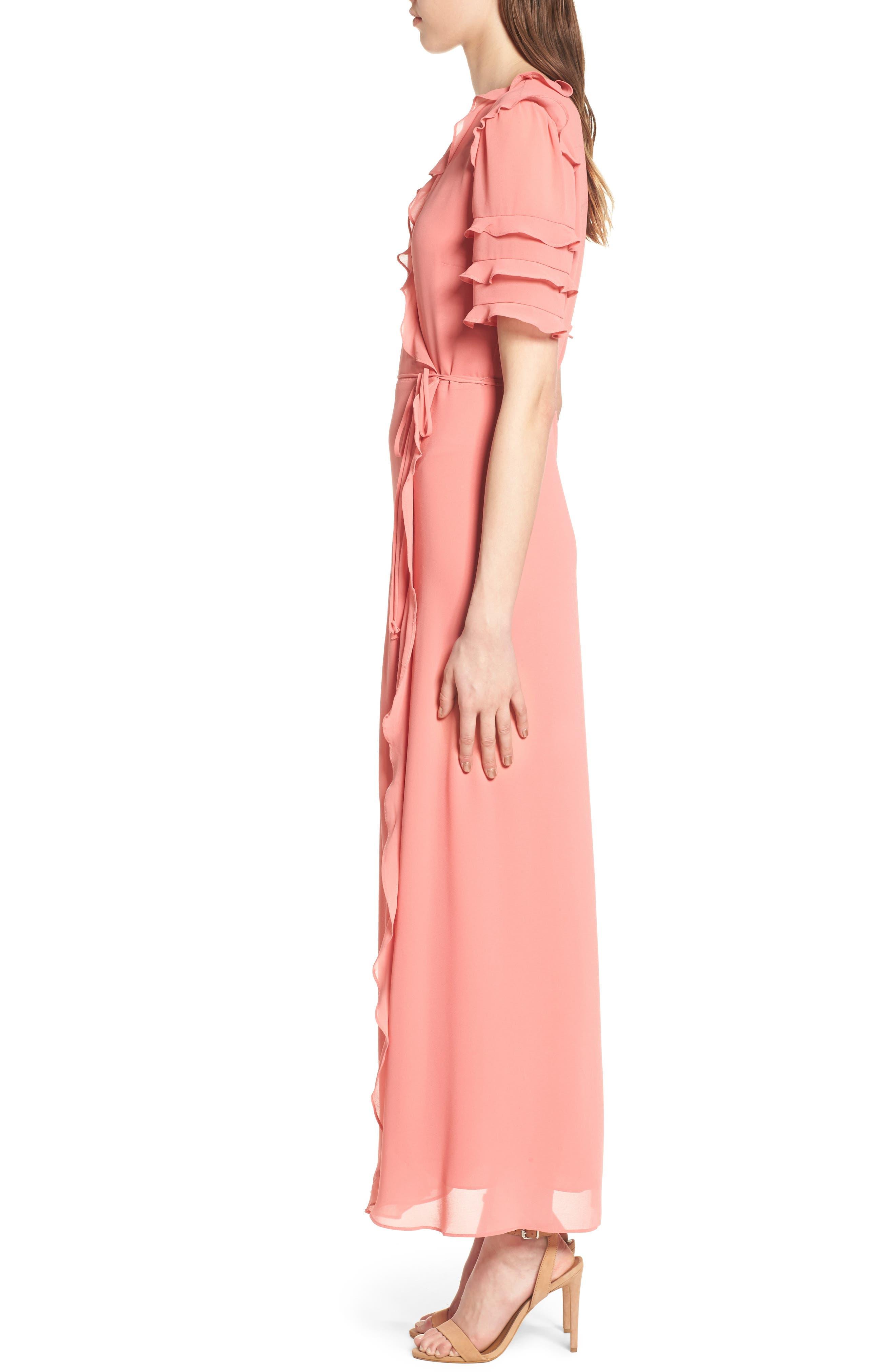 Alternate Image 3  - WAYF Ruffle Wrap Gown