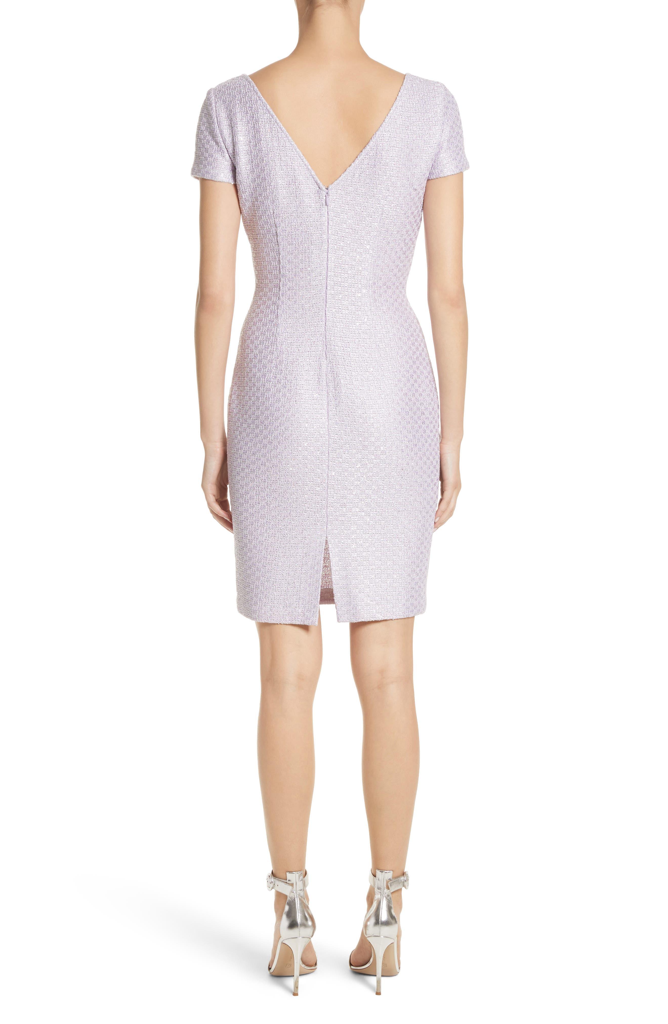 Hansh Sequin Knit Cutout Dress,                             Alternate thumbnail 2, color,                             Lilac Multi
