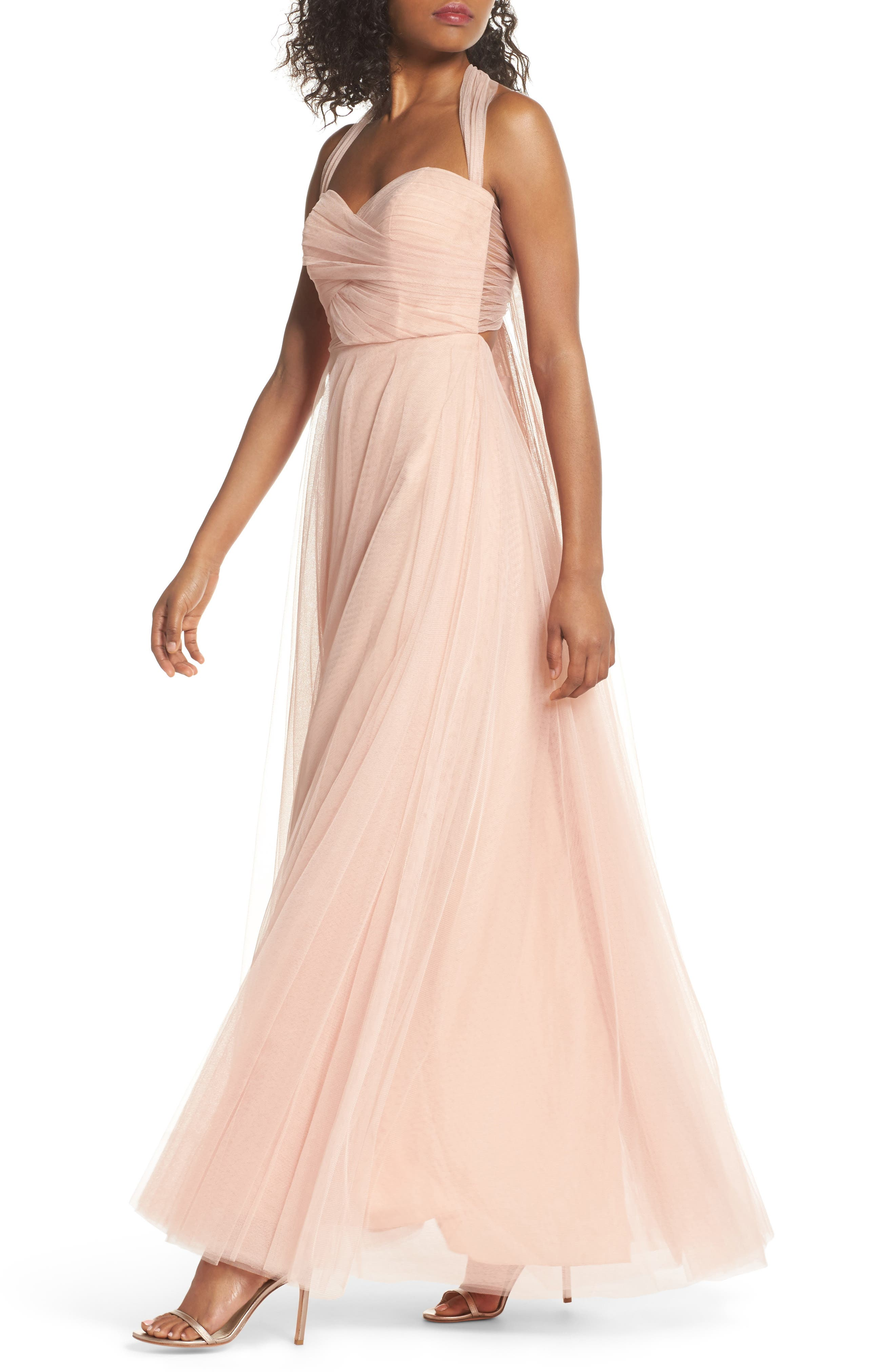 Alternate Image 4  - Jenny Yoo Julia Convertible Soft Tulle Gown