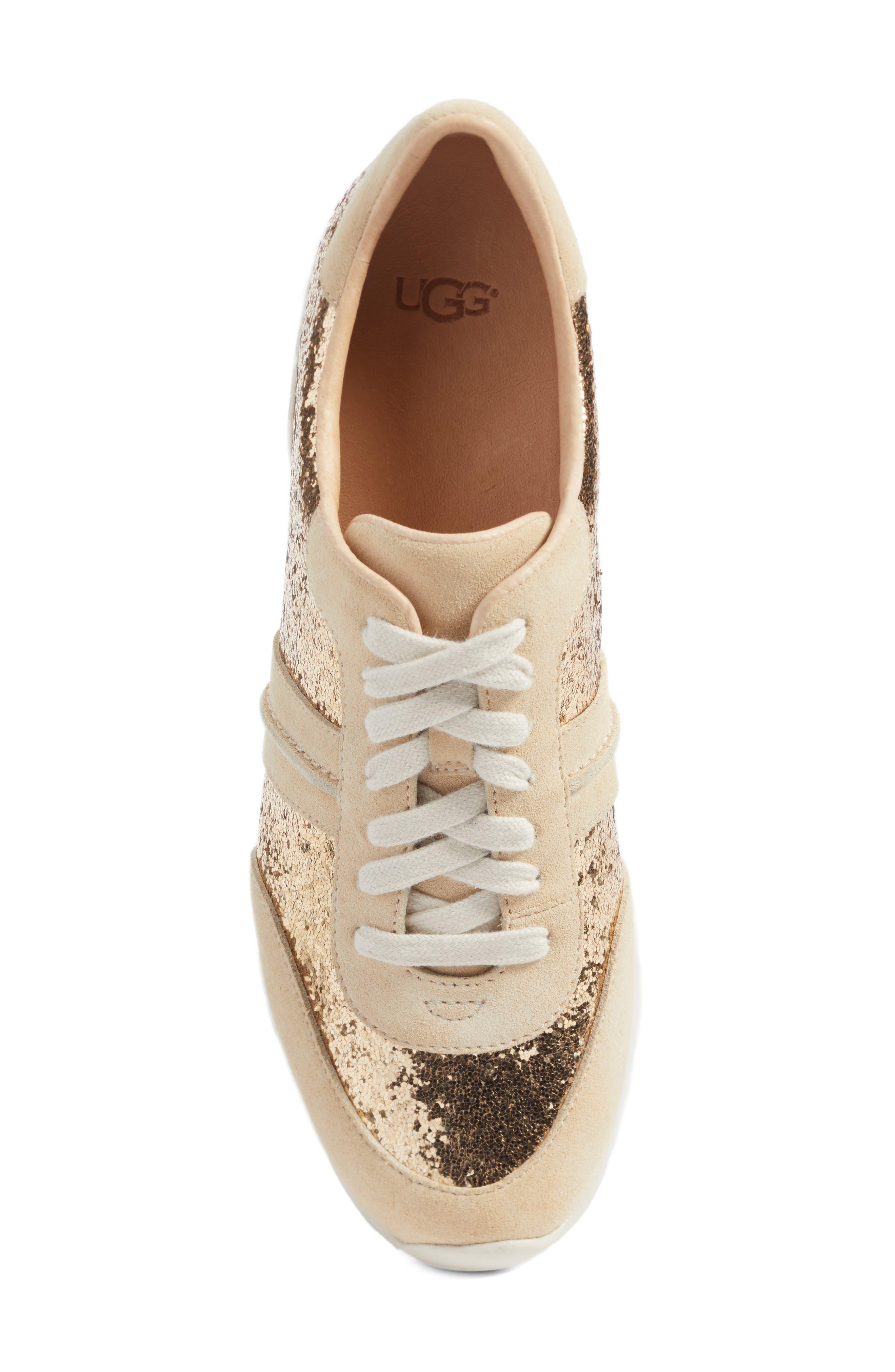 Alternate Image 5  - UGG® Jaida Glitter Sneaker (Women)