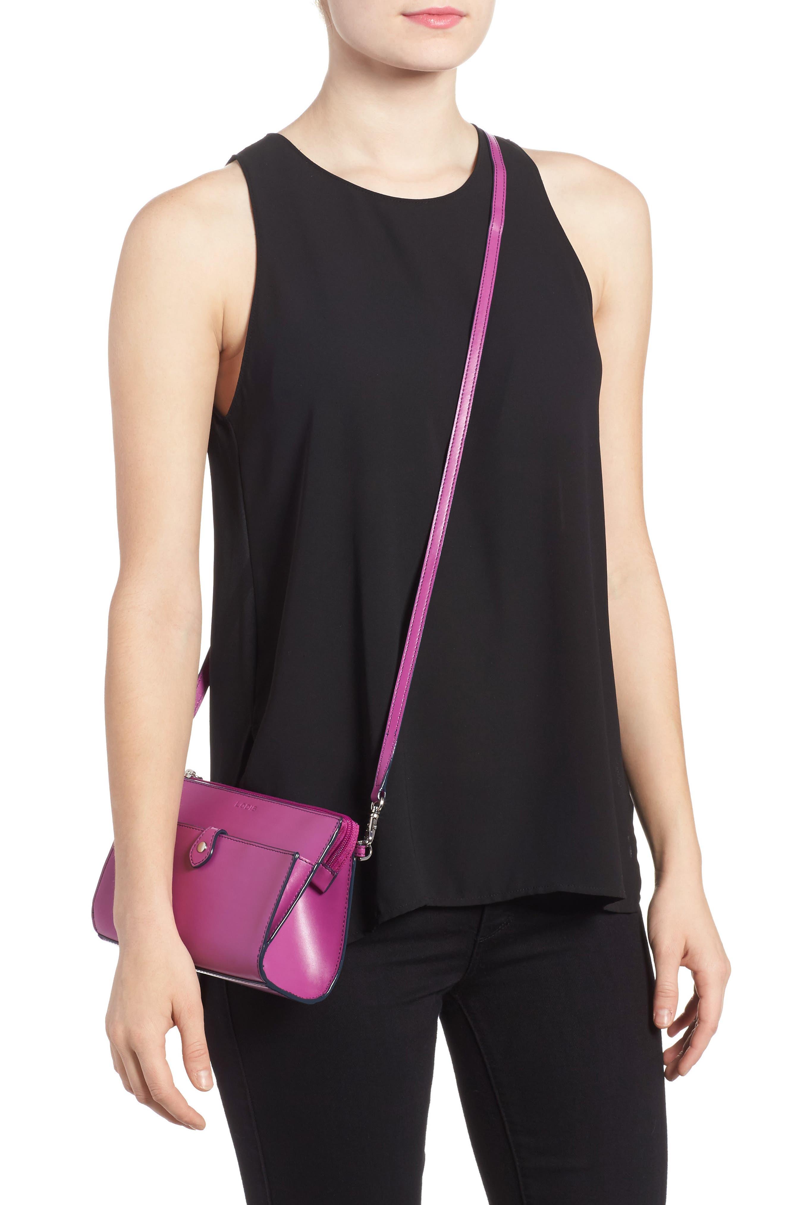 Alternate Image 2  - LODIS Audrey Under Lock & Key Vicky Convertible Leather Crossbody Bag