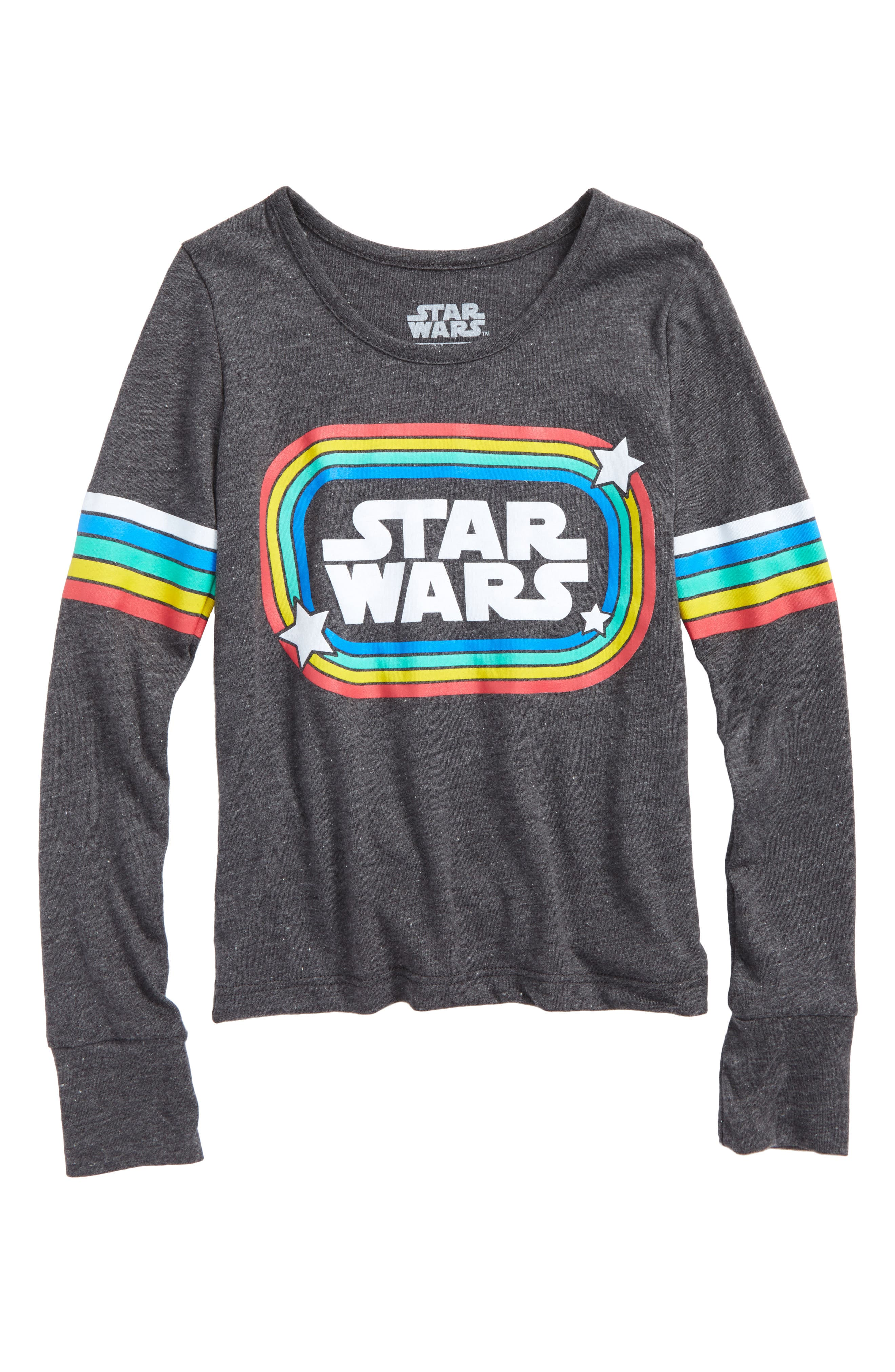 Star Wars<sup>™</sup> Retro Rainbow Graphic Tee,                         Main,                         color, Dark Charcoal