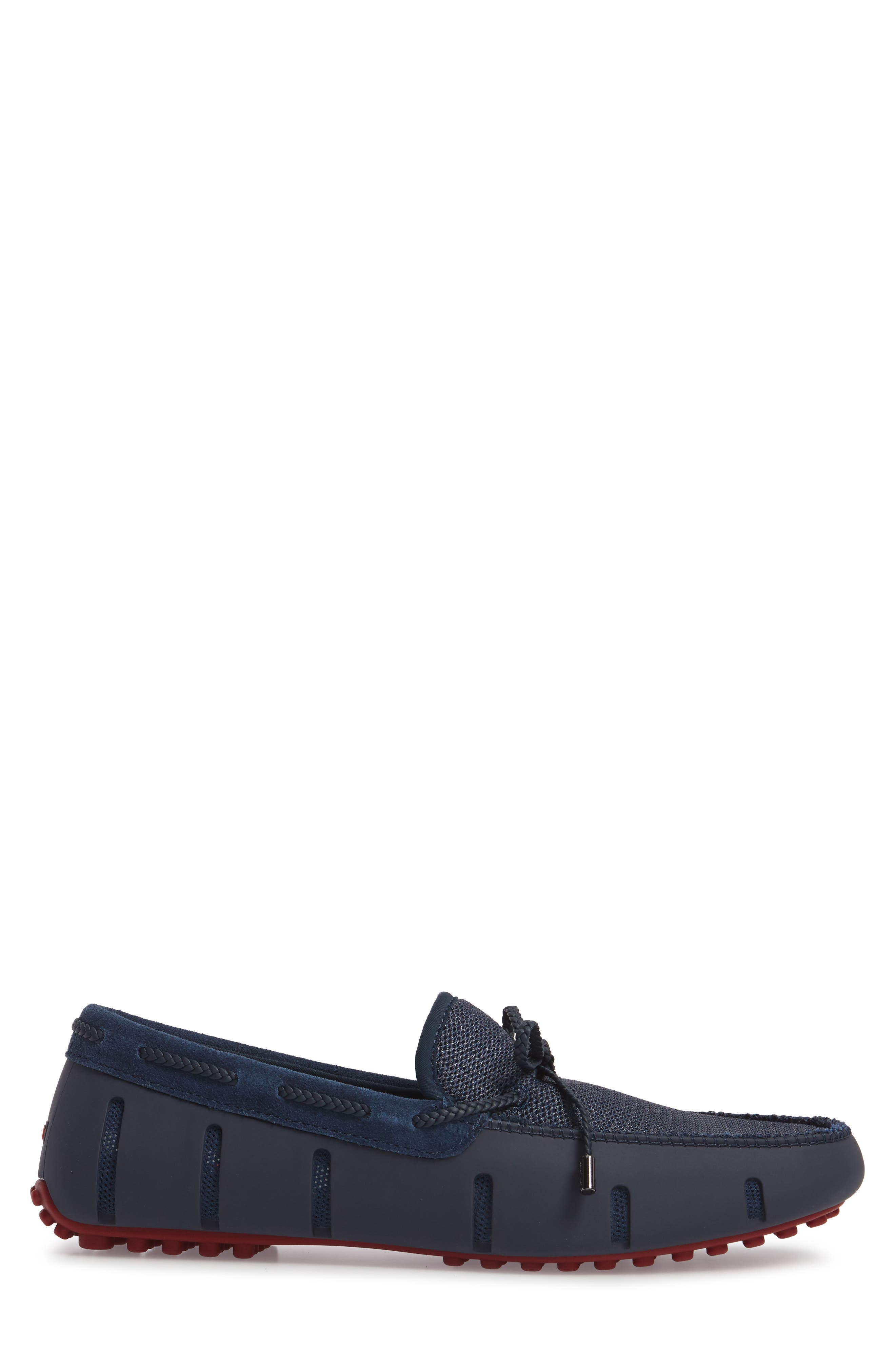 Driving Shoe,                             Alternate thumbnail 3, color,                             Navy / Deep Red