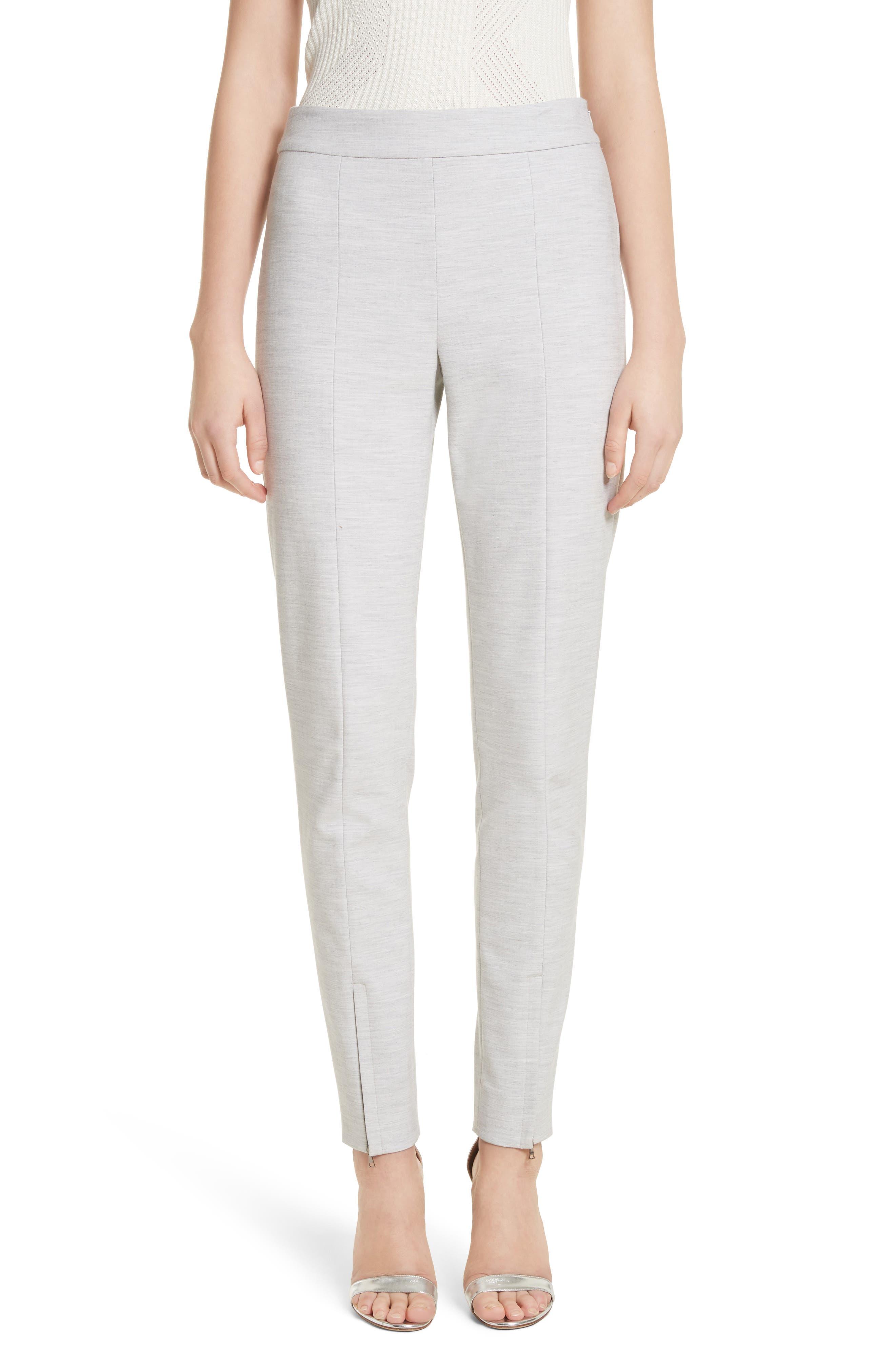 Summer Bella Double Weave Pants,                             Main thumbnail 1, color,                             Light Grey Melange