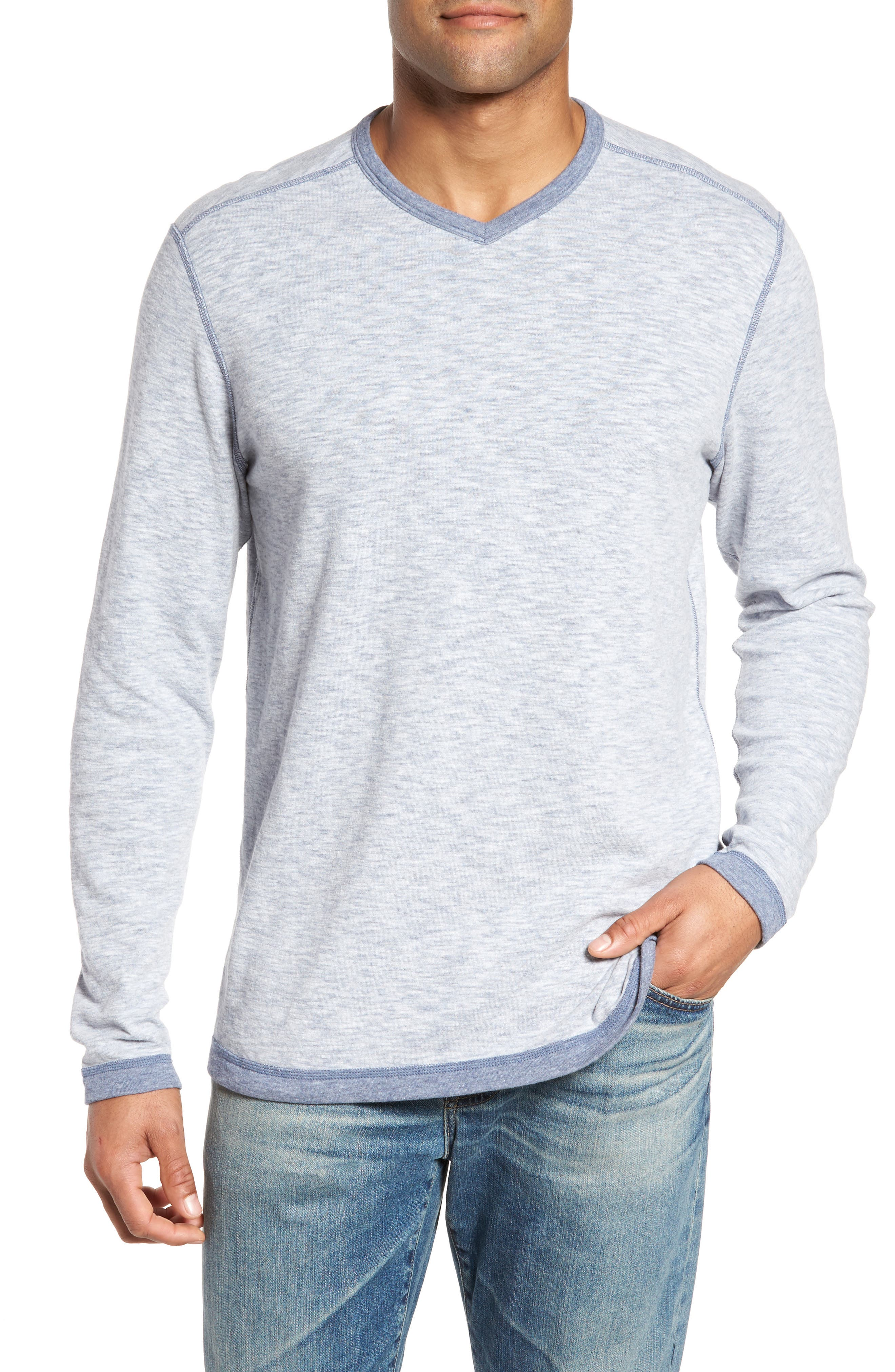 Sea Glass Reversible T-Shirt,                         Main,                         color, Maritime