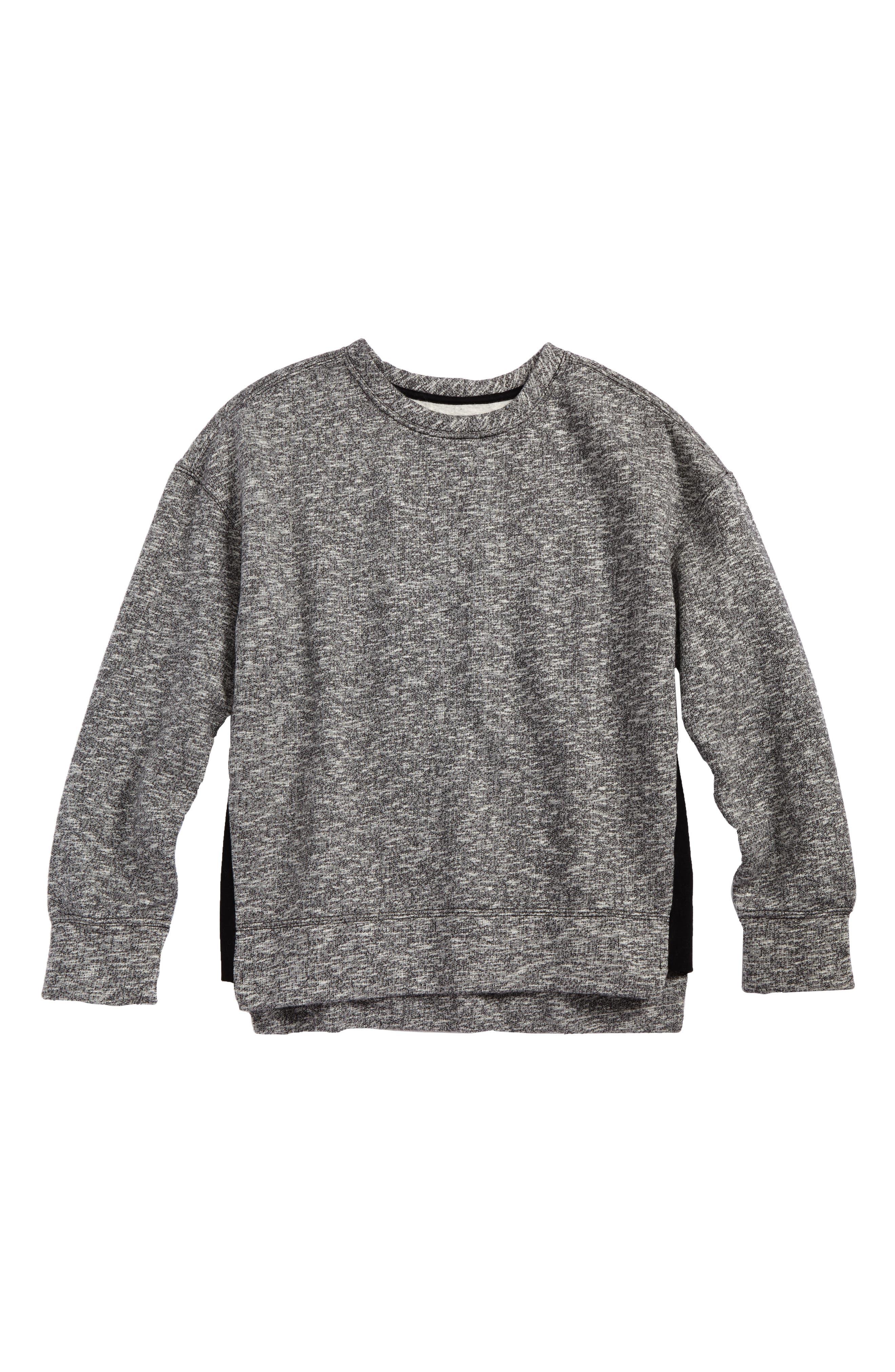 High/Low Sweatshirt,                         Main,                         color, Grey