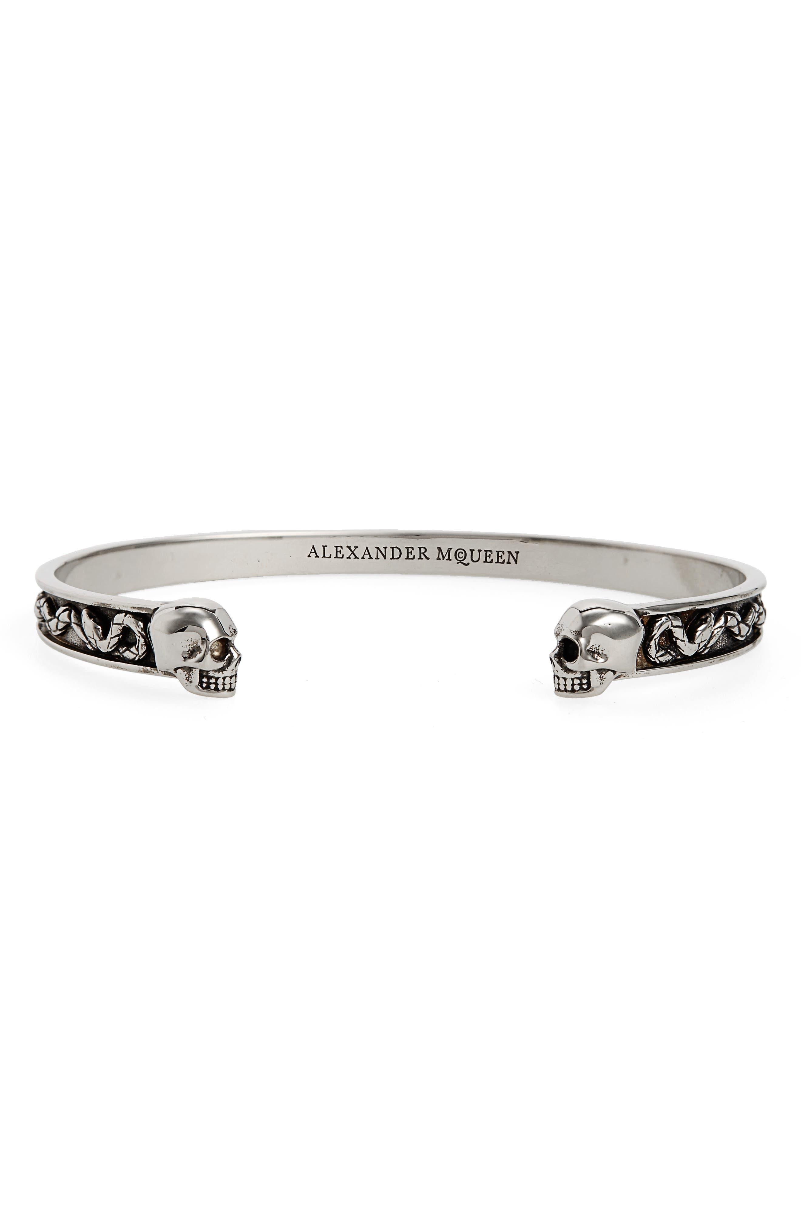 Alexander McQueen Skull Brass Cuff