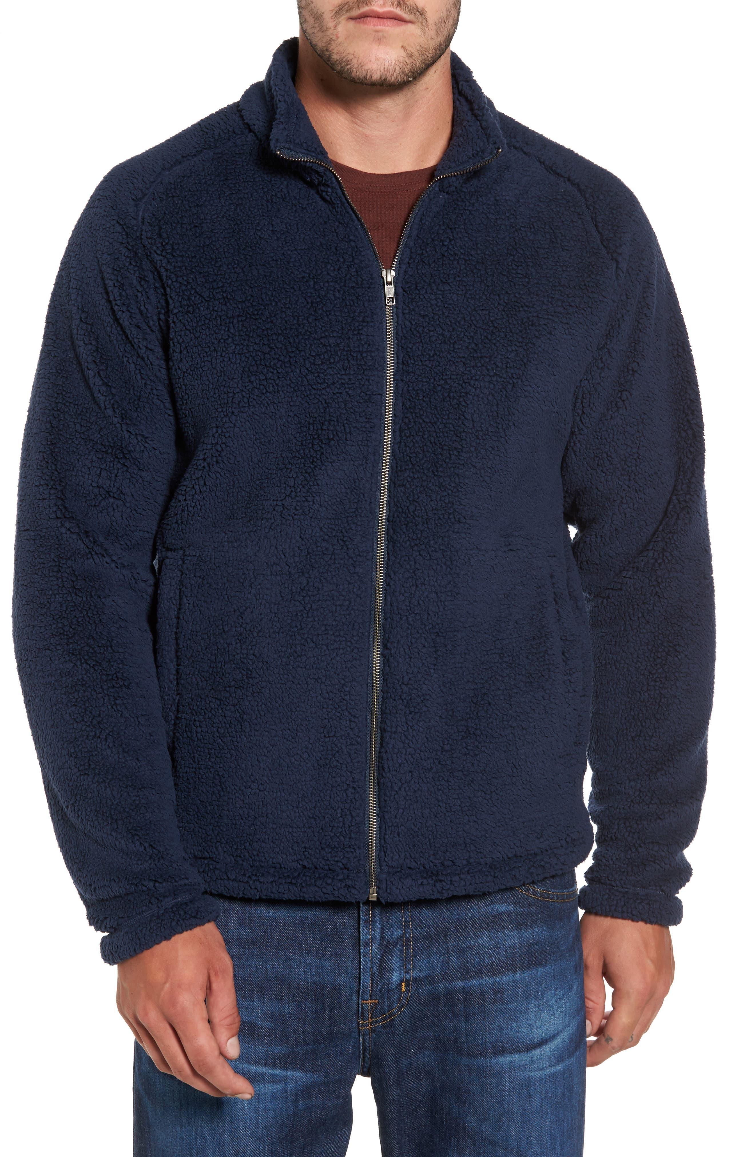 Polar Fleece Jacket,                         Main,                         color, Navy Iris