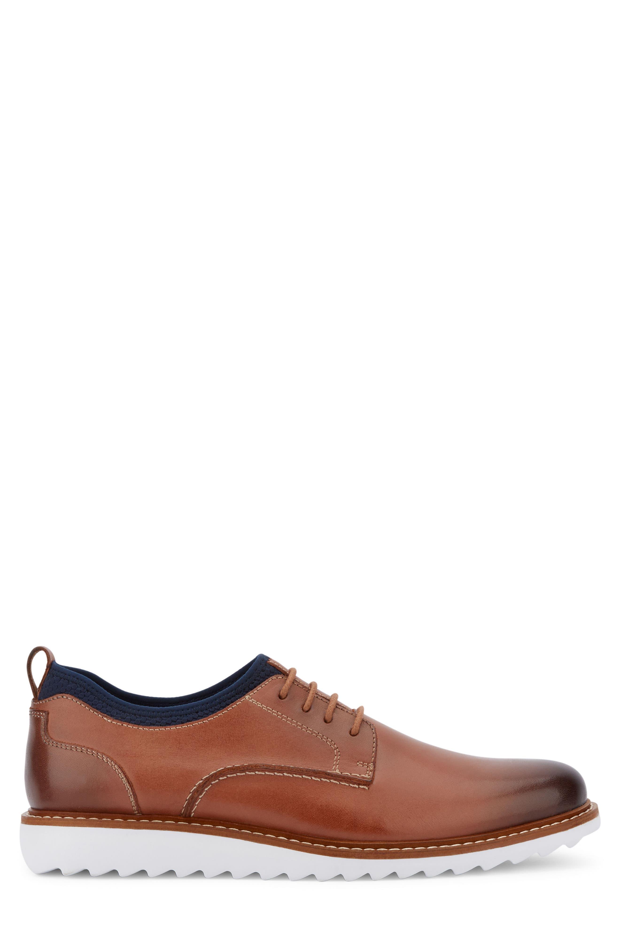 Buck 2.0 Plain Toe Derby,                             Alternate thumbnail 3, color,                             Tan Burnished Leather