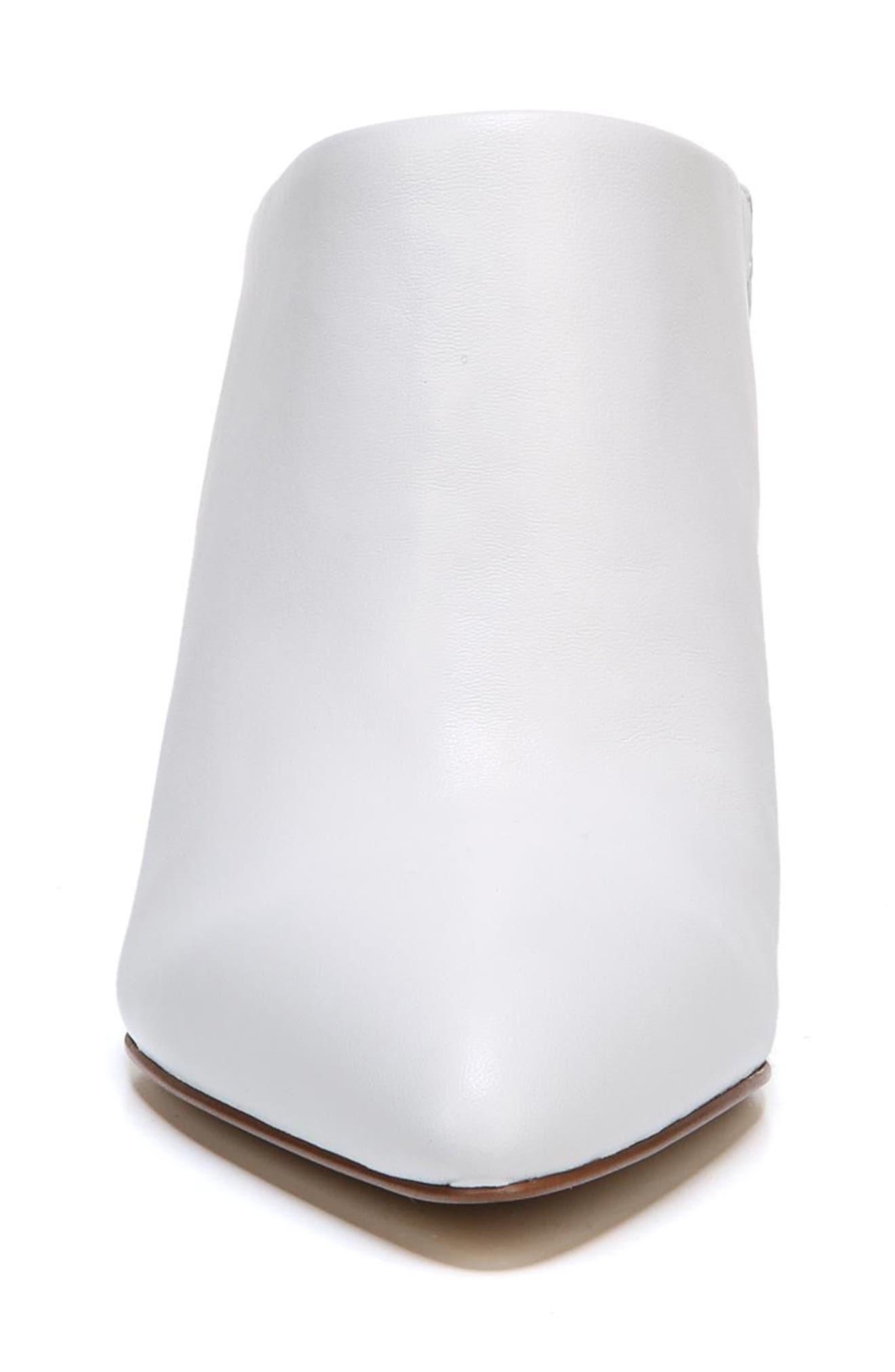 Oran Mule,                             Alternate thumbnail 5, color,                             Bright White Nappa Leather