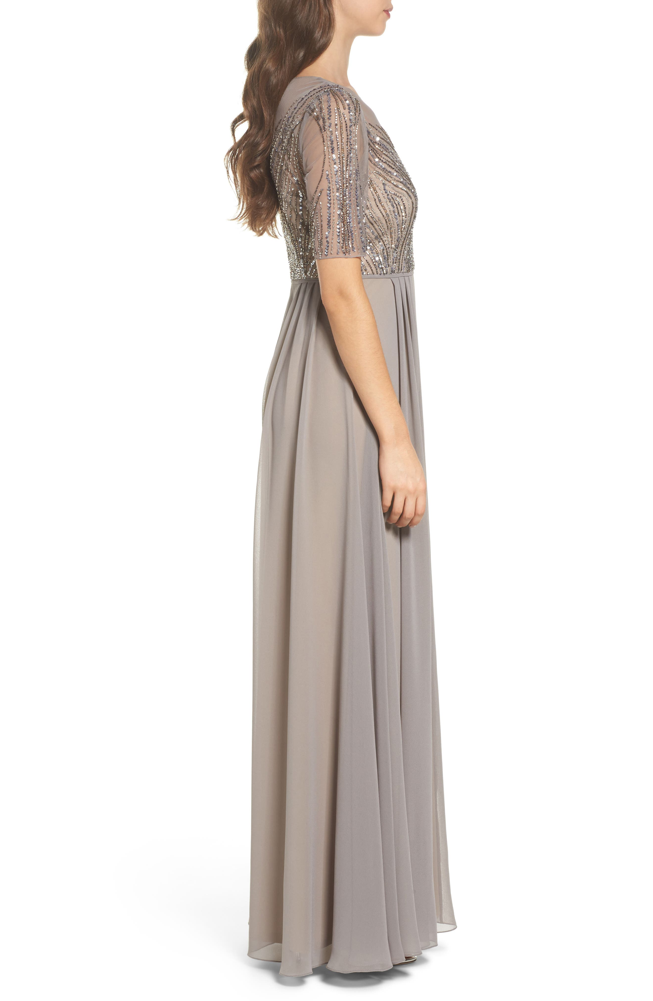 Alternate Image 3  - Adrianna Papell Embellished Georgette Gown