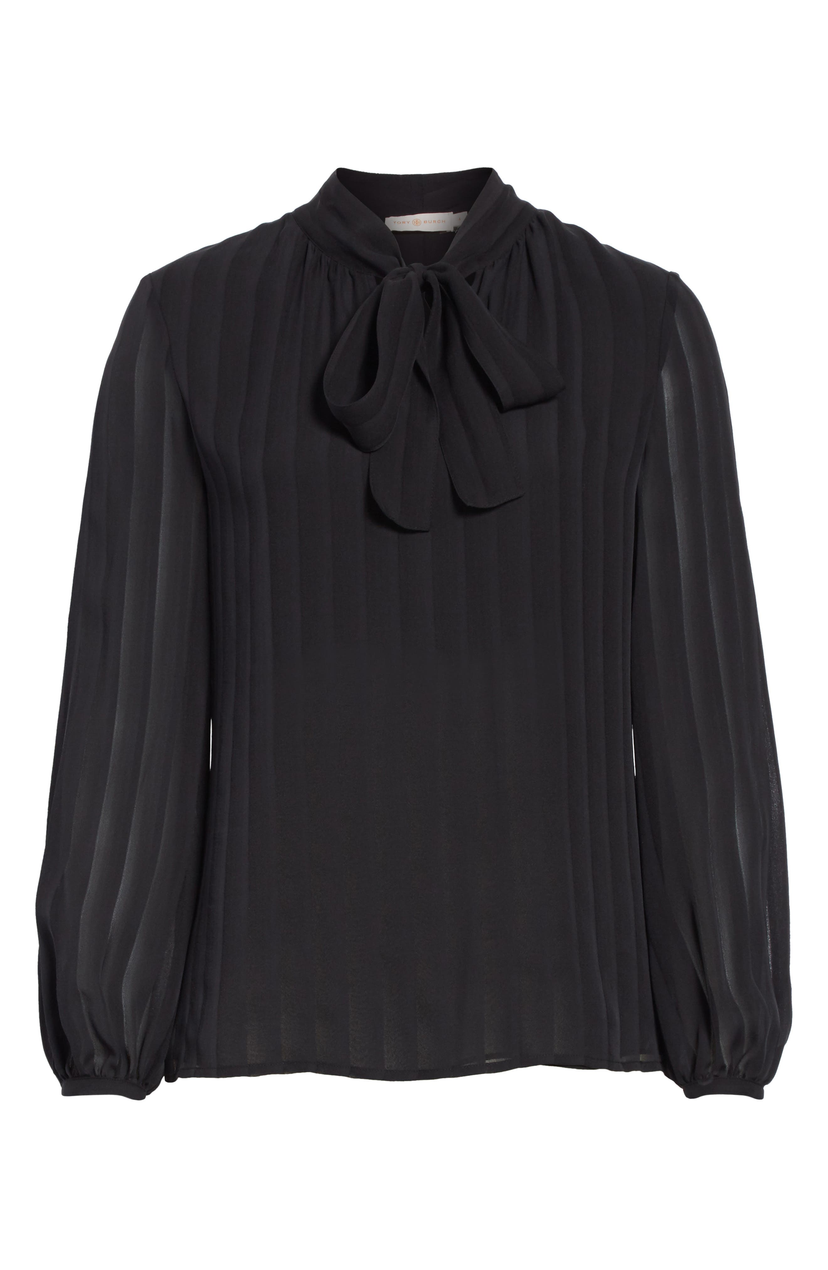 Alternate Image 6  - Tory Burch Emma Bow Neck Silk Blouse