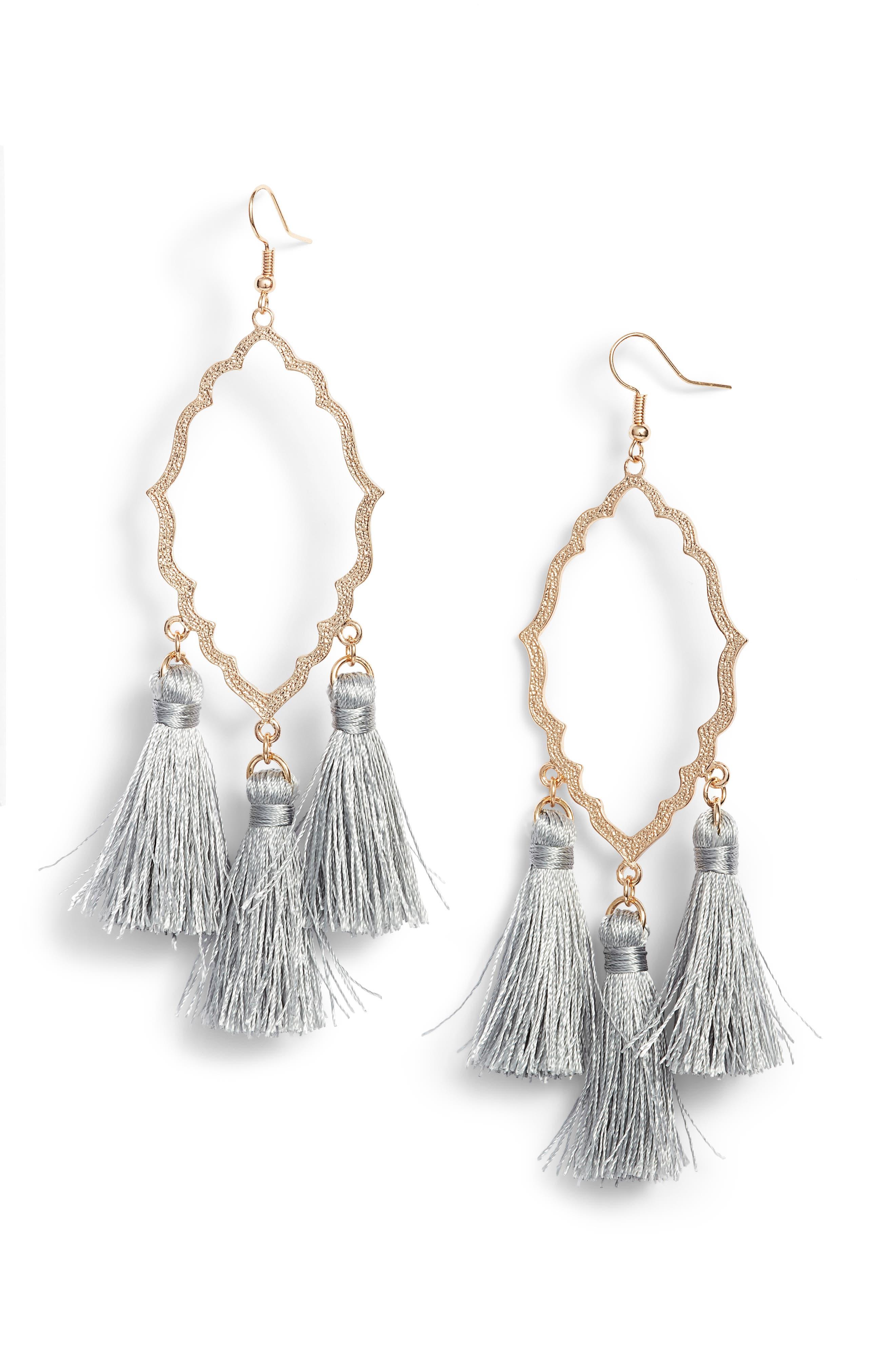 Alternate Image 1 Selected - BP. Medallion Tassel Earrings