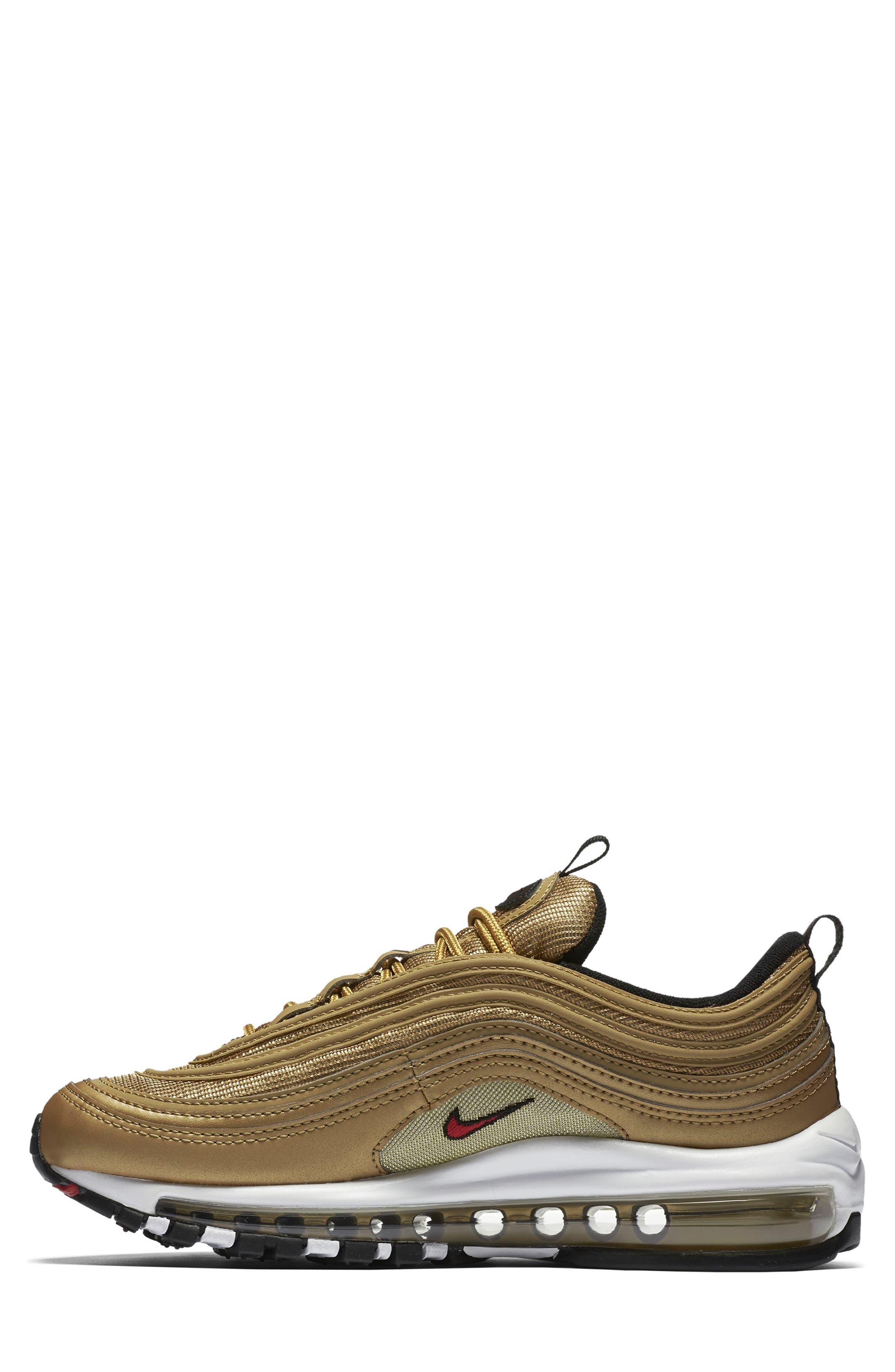 Air Max 97 OG Sneaker,                             Alternate thumbnail 2, color,                             Gold/ Red/ White/ Black